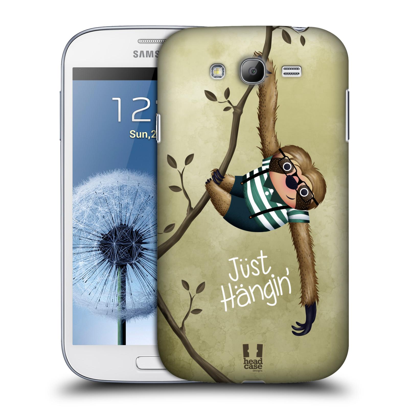 Plastové pouzdro na mobil Samsung Galaxy Grand Neo HEAD CASE Lenochod Just Hangin