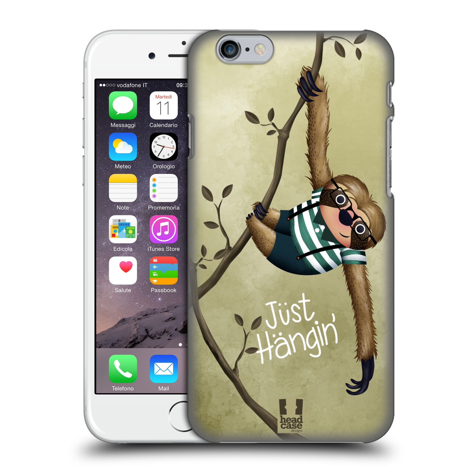 Plastové pouzdro na mobil Apple iPhone 6 HEAD CASE Lenochod Just Hangin