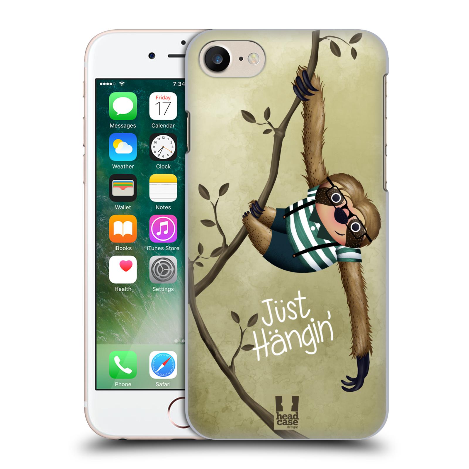 Plastové pouzdro na mobil Apple iPhone 7 HEAD CASE Lenochod Just Hangin