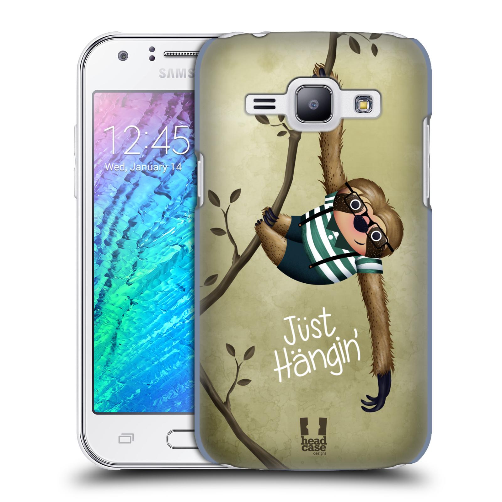 Plastové pouzdro na mobil Samsung Galaxy J1 HEAD CASE Lenochod Just Hangin (Kryt či obal na mobilní telefon Samsung Galaxy J1 a J1 Duos )