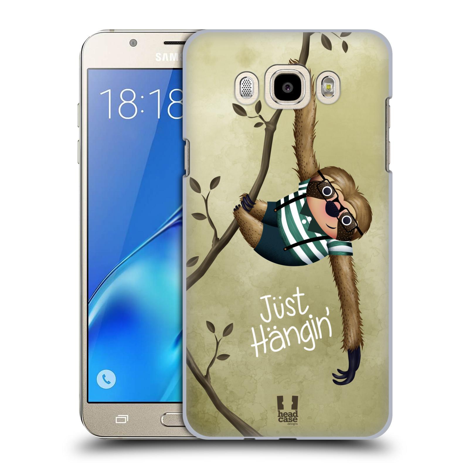 Plastové pouzdro na mobil Samsung Galaxy J7 (2016) HEAD CASE Lenochod Just Hangin
