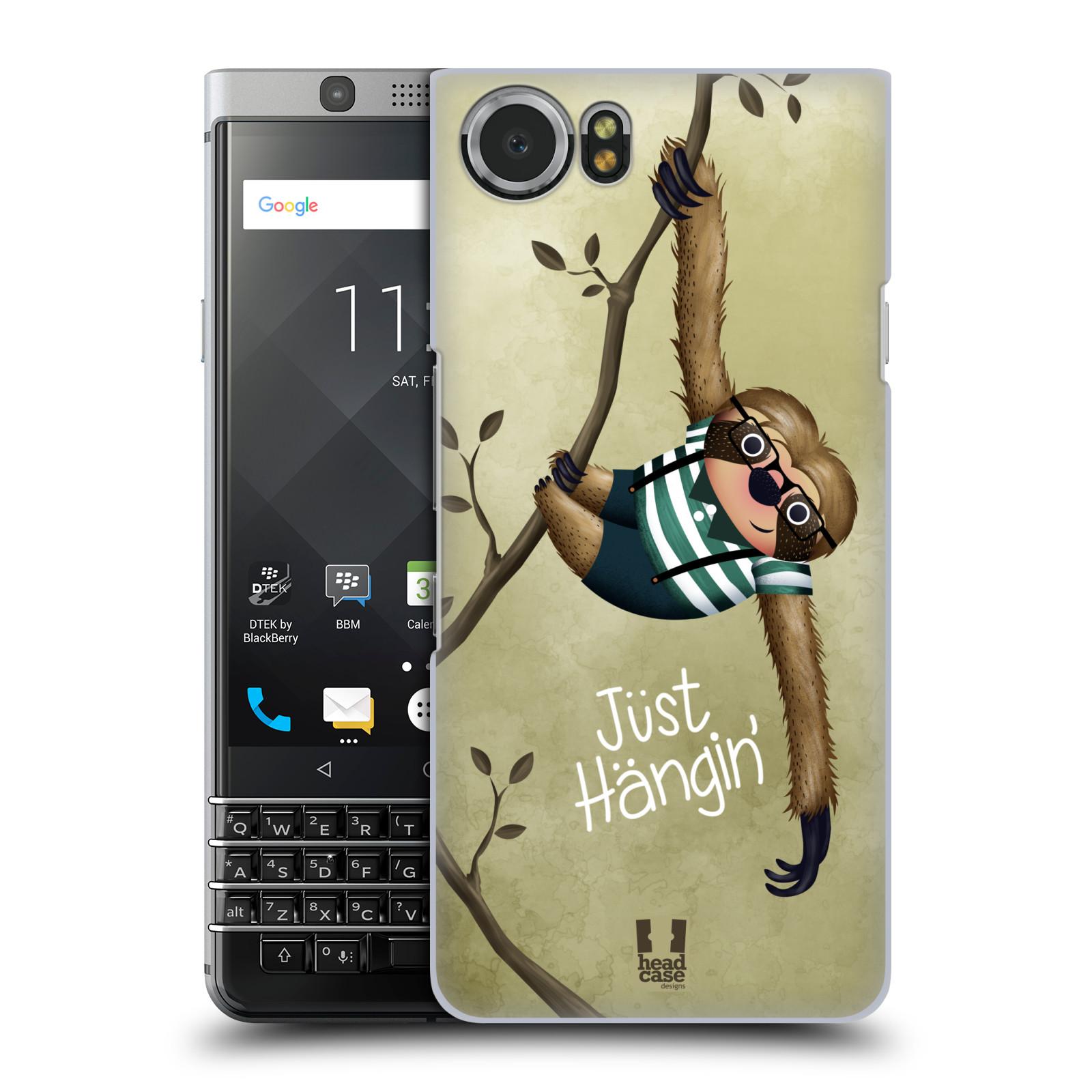 Plastové pouzdro na mobil BlackBerry KEYone - Head Case - Lenochod Just Hangin