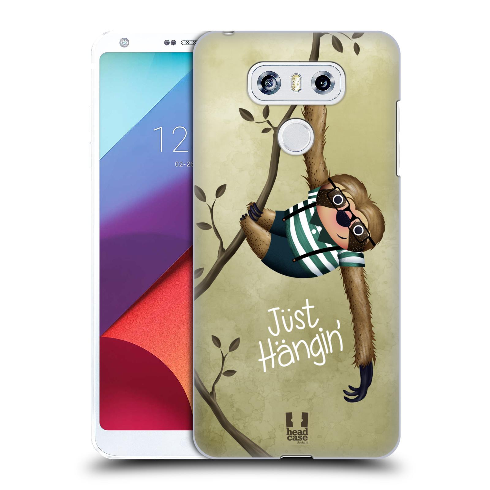 Plastové pouzdro na mobil LG G6 - Head Case Lenochod Just Hangin