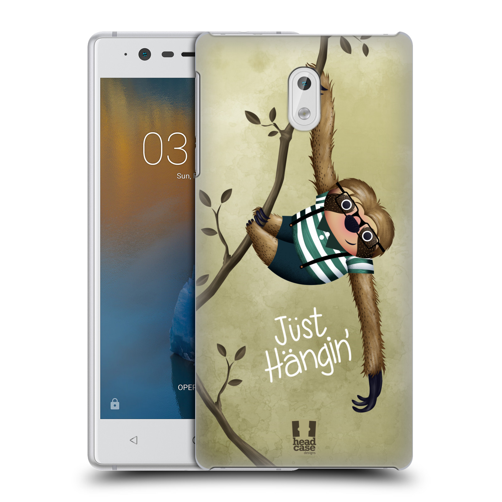 Plastové pouzdro na mobil Nokia 3 Head Case - Lenochod Just Hangin