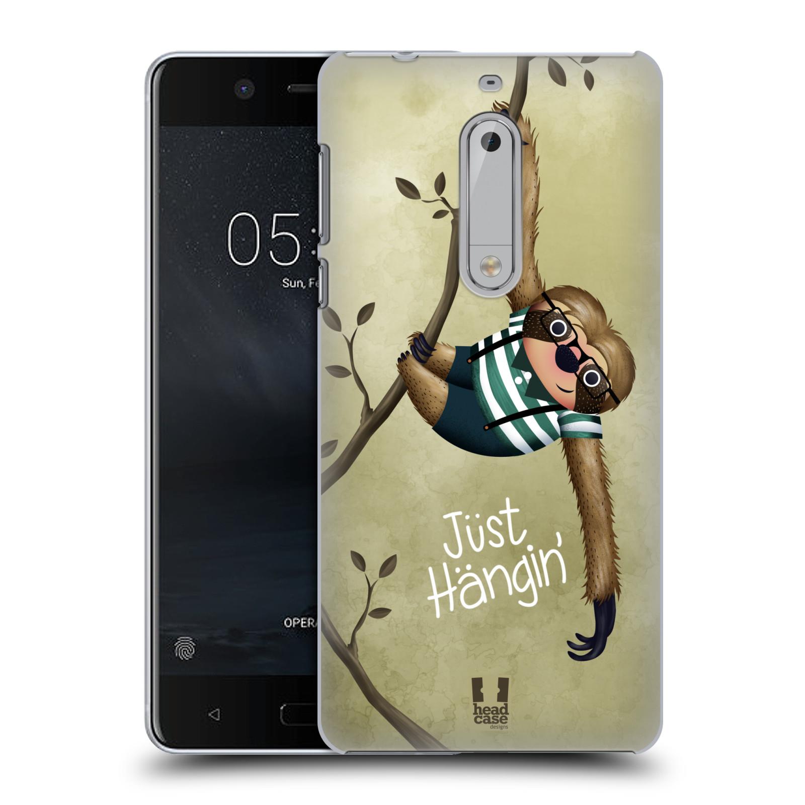 Plastové pouzdro na mobil Nokia 5 Head Case - Lenochod Just Hangin