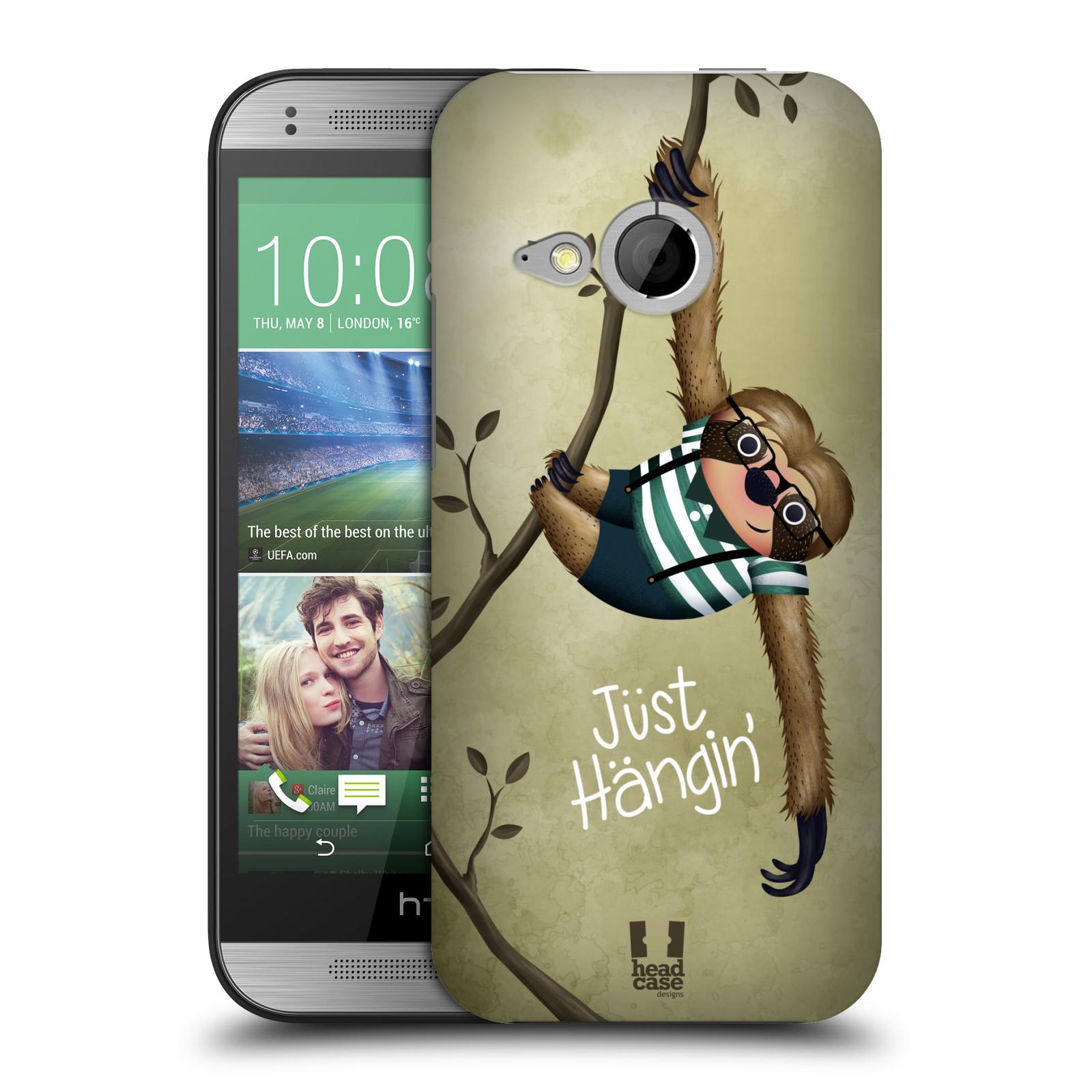 Plastové pouzdro na mobil HTC ONE Mini 2 HEAD CASE Lenochod Just Hangin (Kryt či obal na mobilní telefon HTC ONE Mini 2)