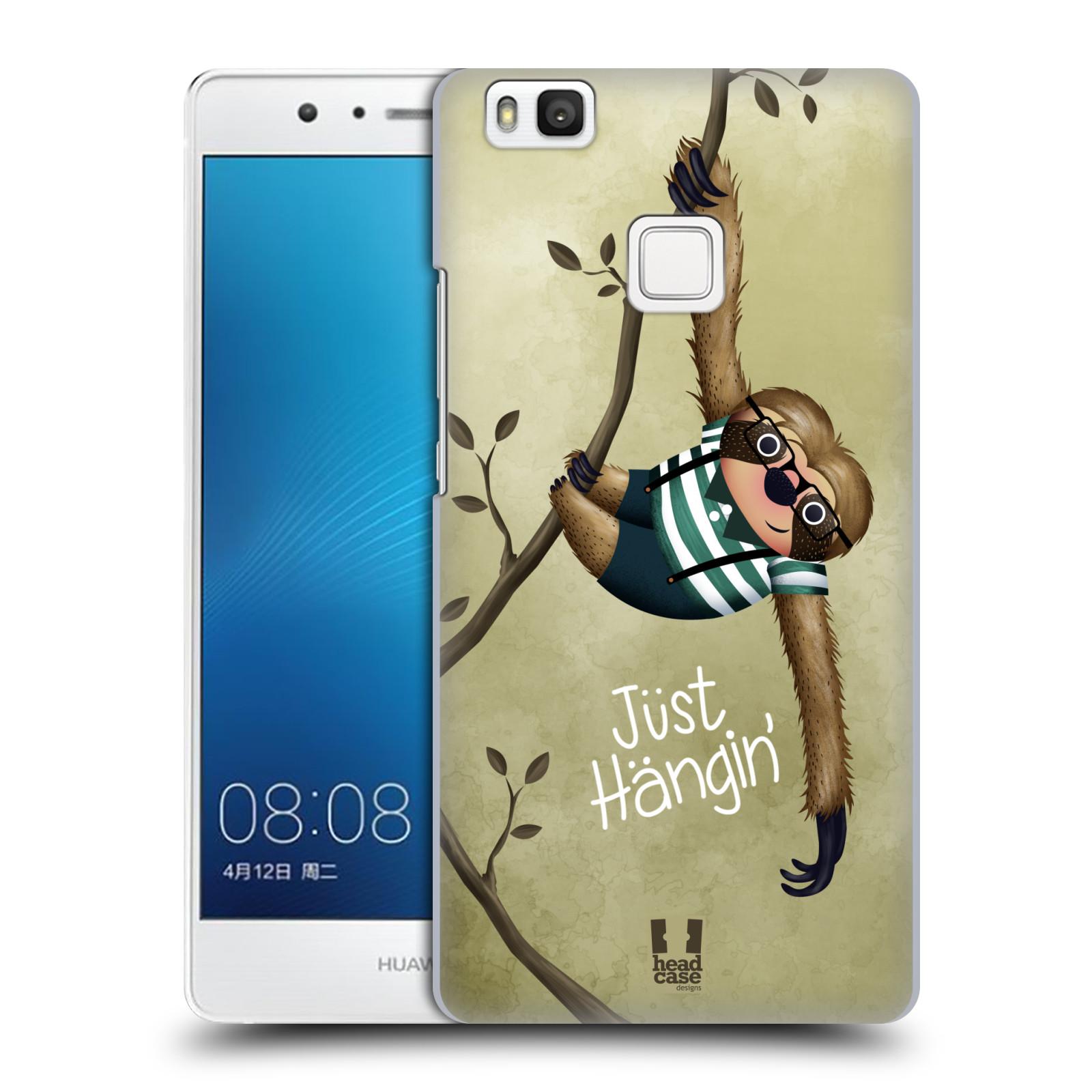 Plastové pouzdro na mobil Huawei P9 Lite HEAD CASE Lenochod Just Hangin