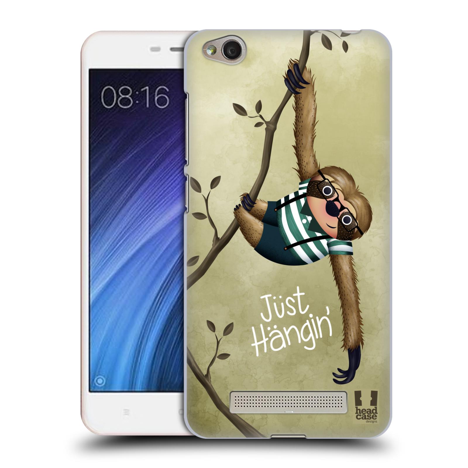 Plastové pouzdro na mobil Xiaomi Redmi 4A HEAD CASE Lenochod Just Hangin