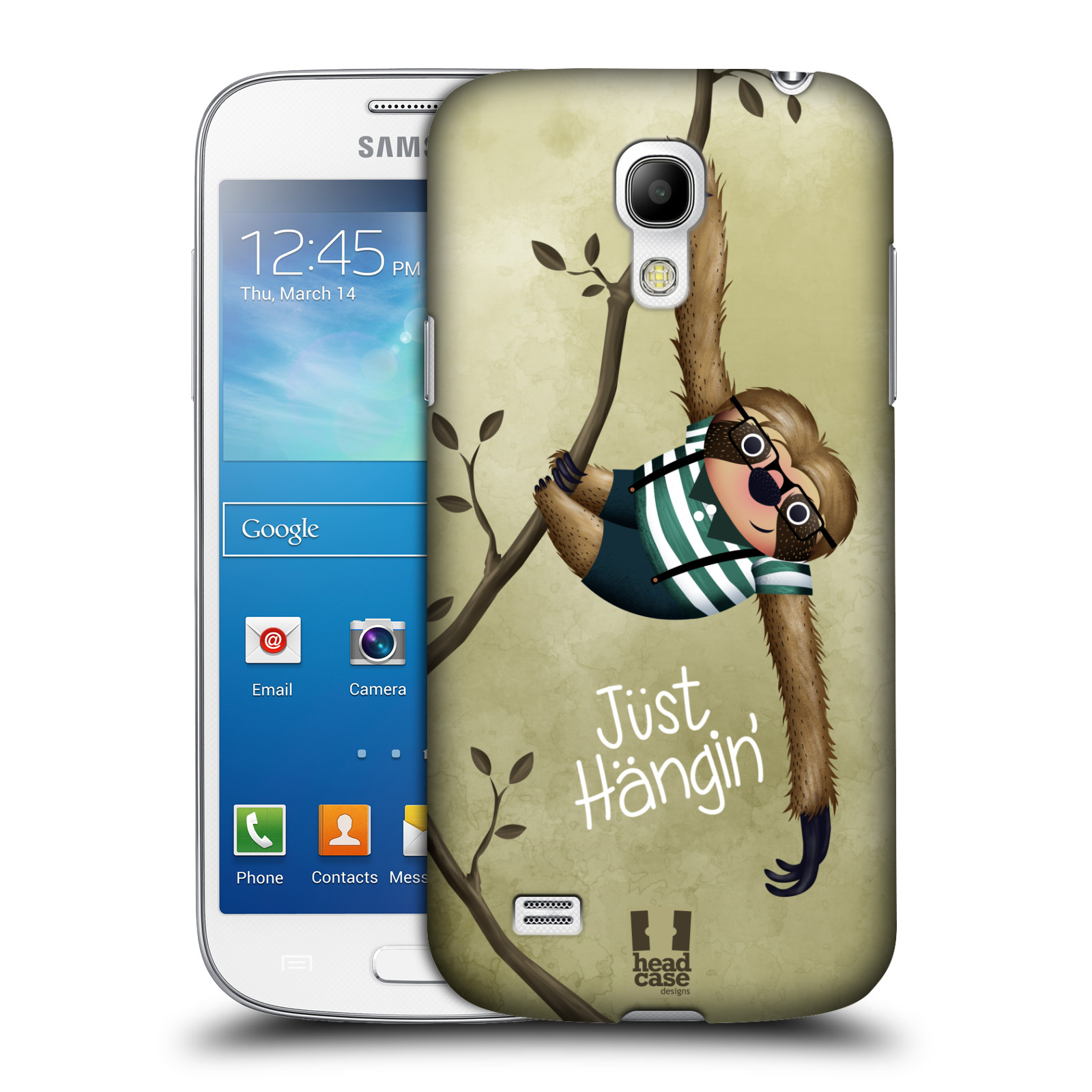 Plastové pouzdro na mobil Samsung Galaxy S4 Mini HEAD CASE Lenochod Just Hangin