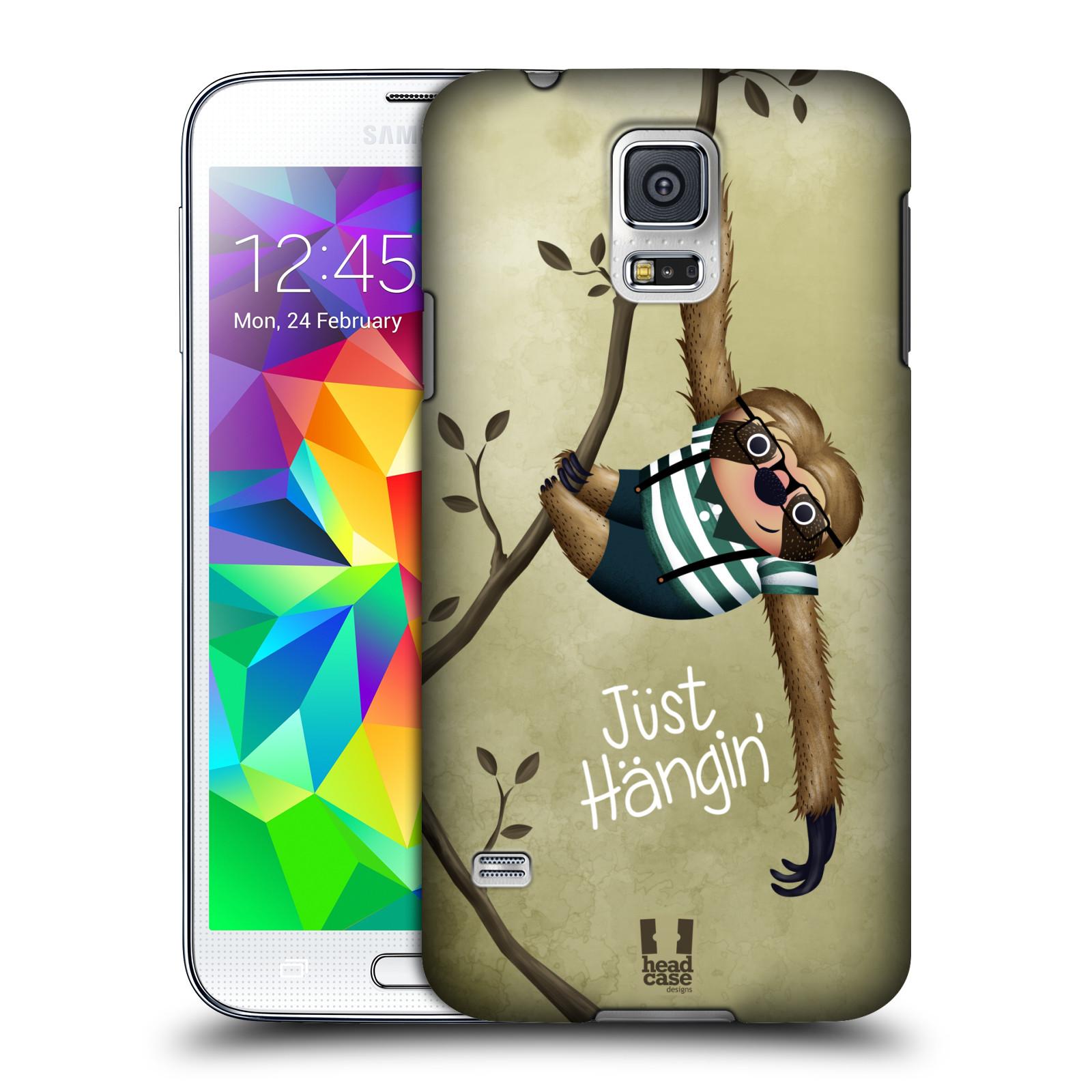 Plastové pouzdro na mobil Samsung Galaxy S5 HEAD CASE Lenochod Just Hangin