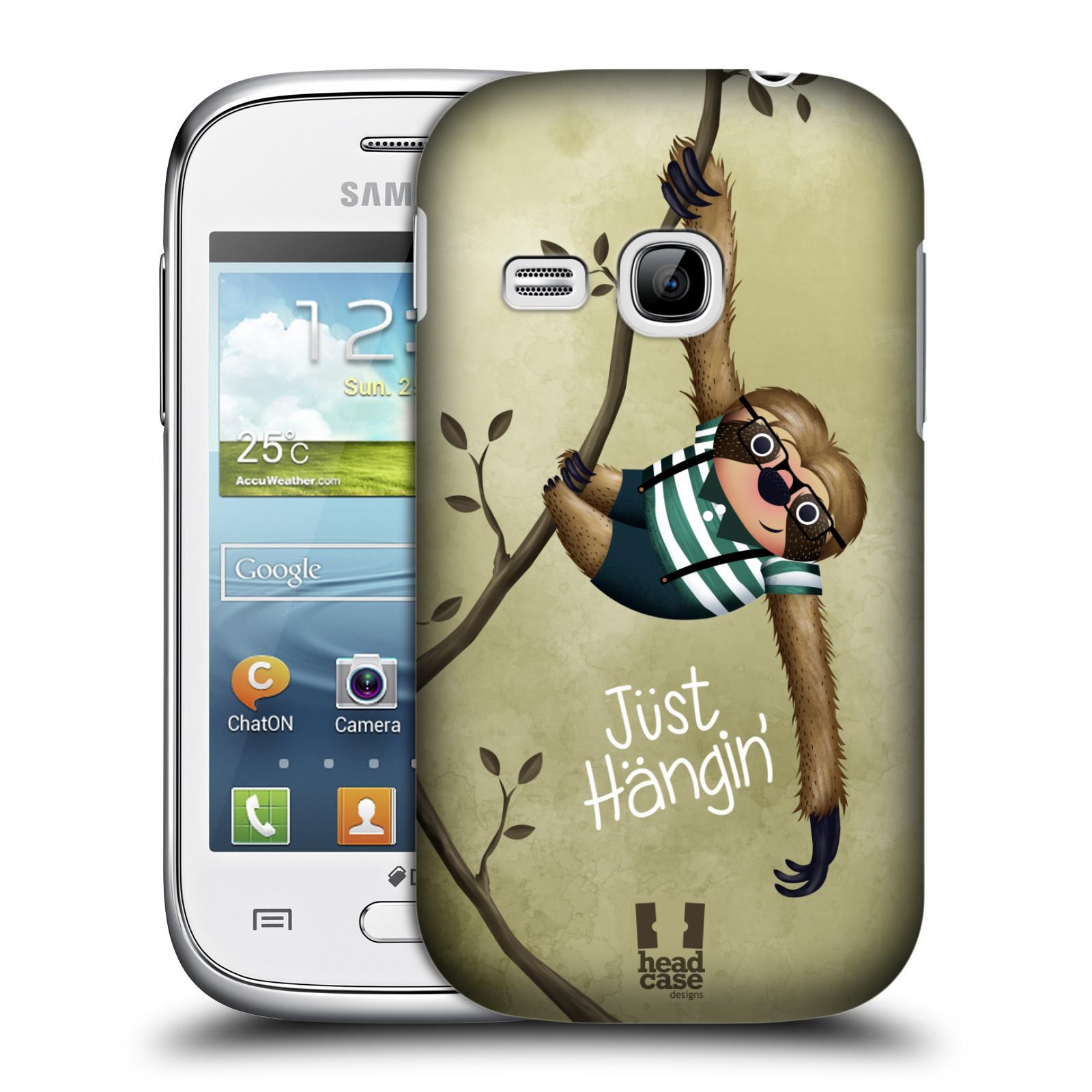 Plastové pouzdro na mobil Samsung Galaxy Young HEAD CASE Lenochod Just Hangin (Kryt či obal na mobilní telefon Samsung Galaxy Young GT-S6310)