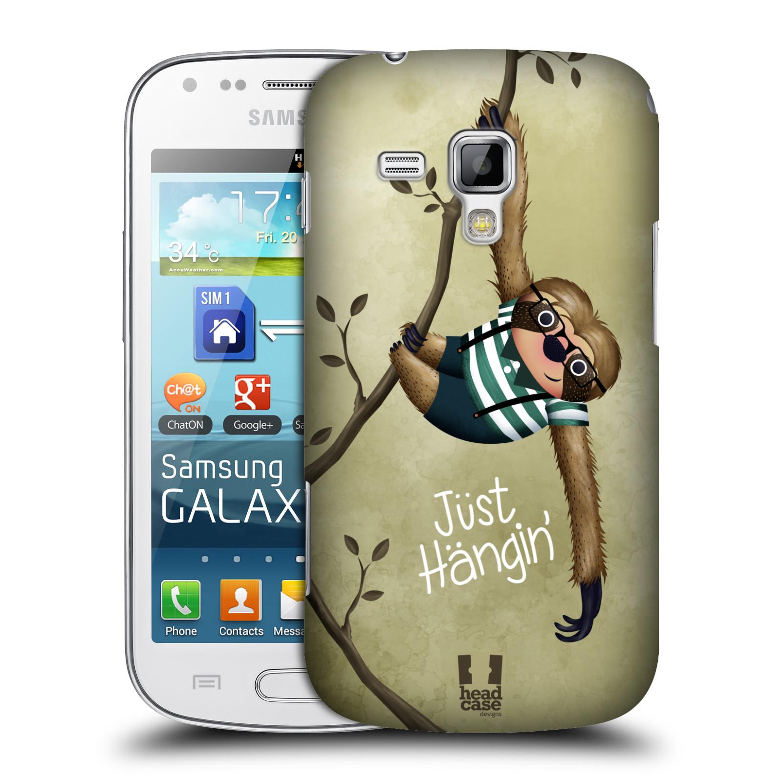 Plastové pouzdro na mobil Samsung Galaxy Trend Plus HEAD CASE Lenochod Just Hangin (Kryt či obal na mobilní telefon Samsung Galaxy Trend Plus GT-S7580)