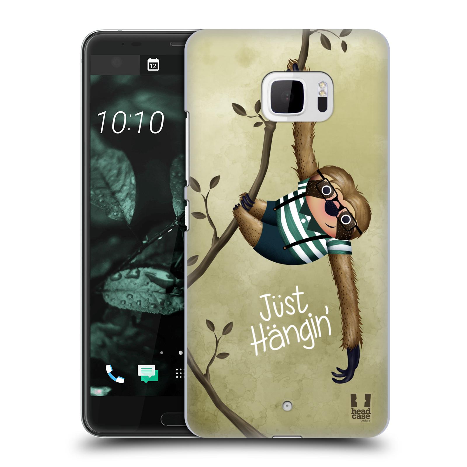 Plastové pouzdro na mobil HTC U Ultra Head Case - Lenochod Just Hangin