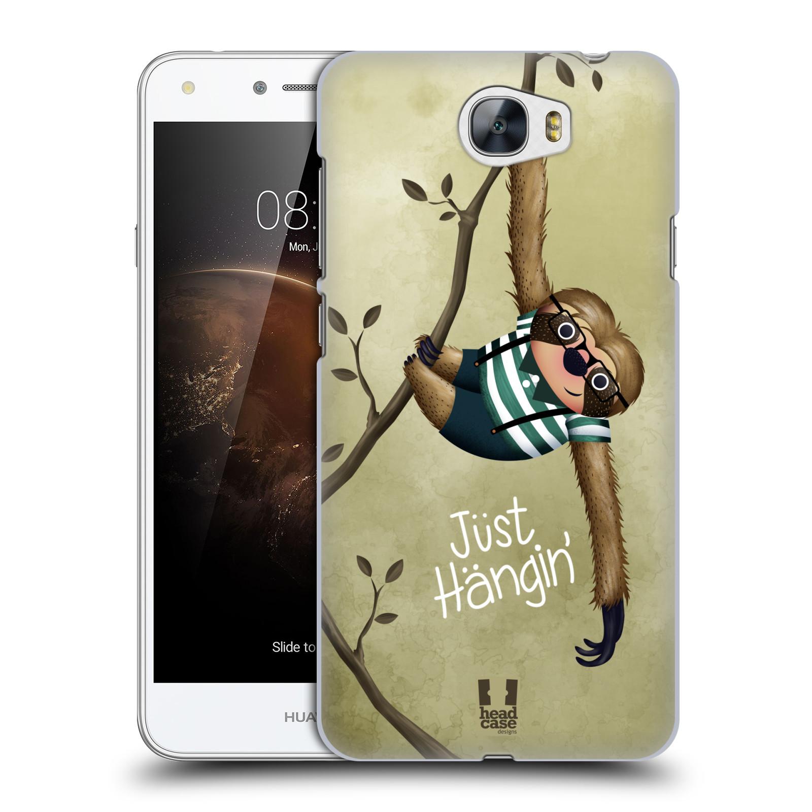 Plastové pouzdro na mobil Huawei Y5 II HEAD CASE Lenochod Just Hangin