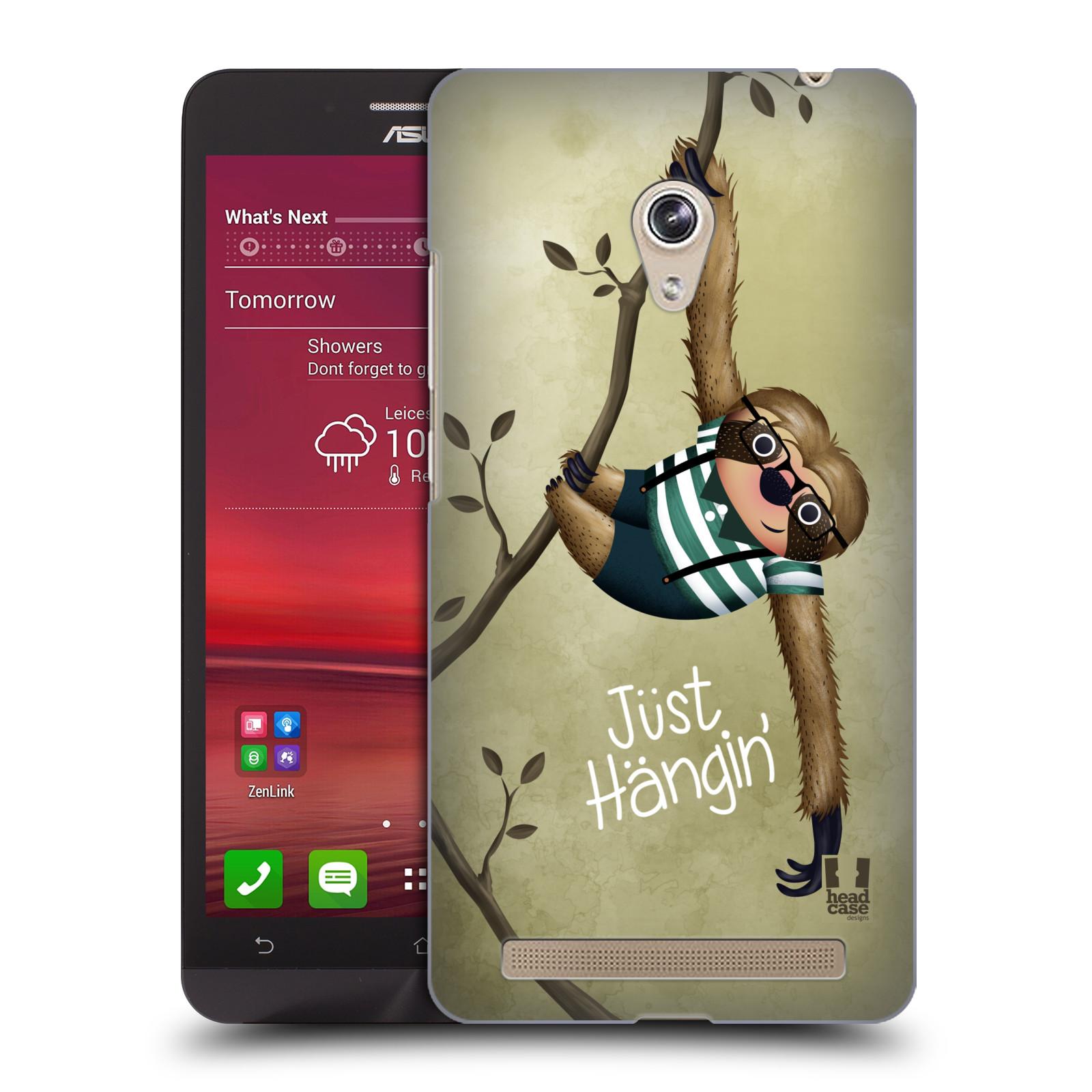 Plastové pouzdro na mobil Asus Zenfone 6 HEAD CASE Lenochod Just Hangin (Kryt či obal na mobilní telefon Asus Zenfone 6 A600CG / A601CG)