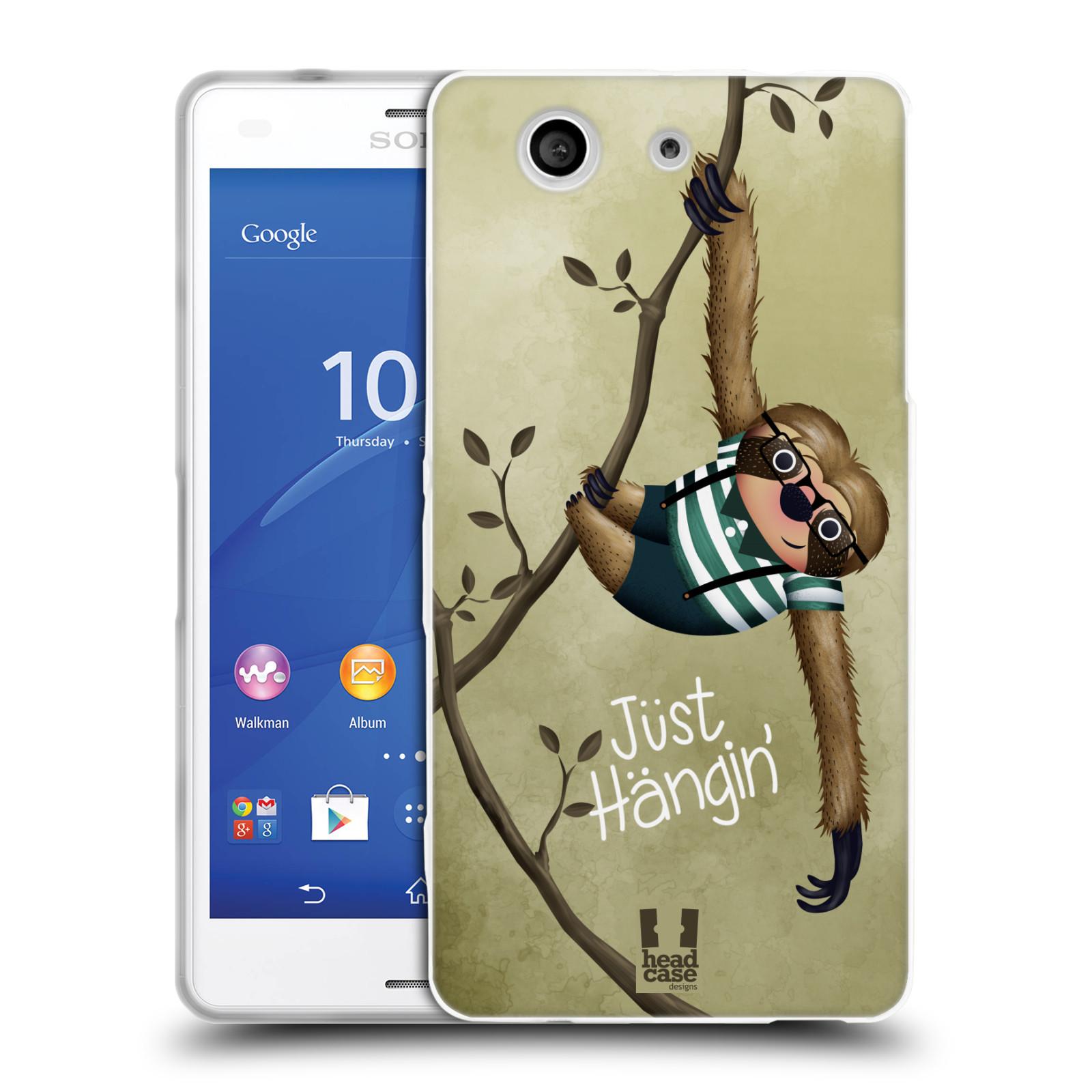 Silikonové pouzdro na mobil Sony Xperia Z3 Compact D5803 HEAD CASE Lenochod Just Hangin
