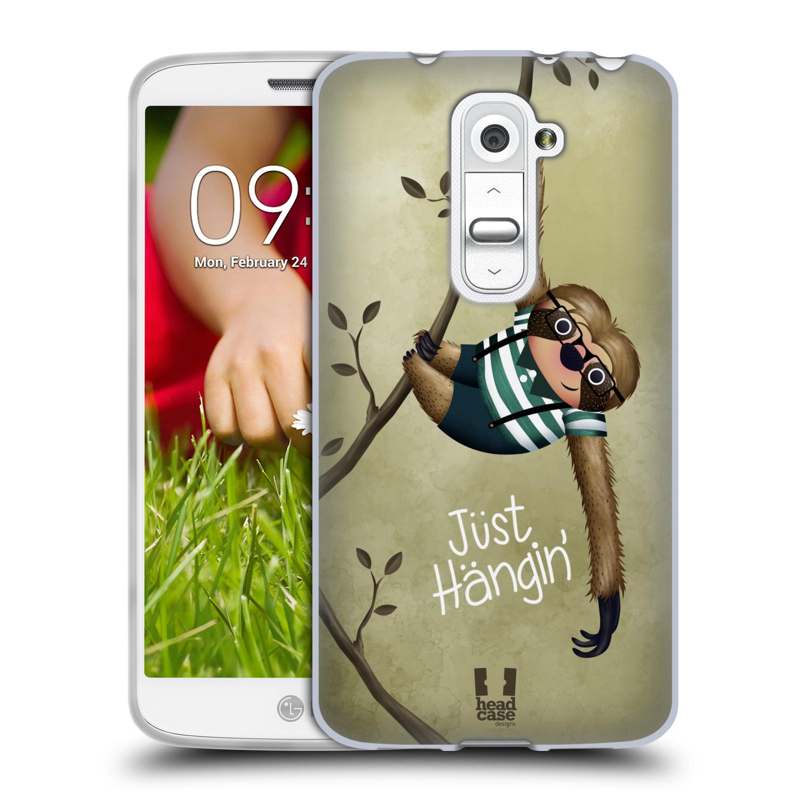 Silikonové pouzdro na mobil LG G2 Mini HEAD CASE Lenochod Just Hangin (Silikonový kryt či obal na mobilní telefon LG G2 Mini D620)