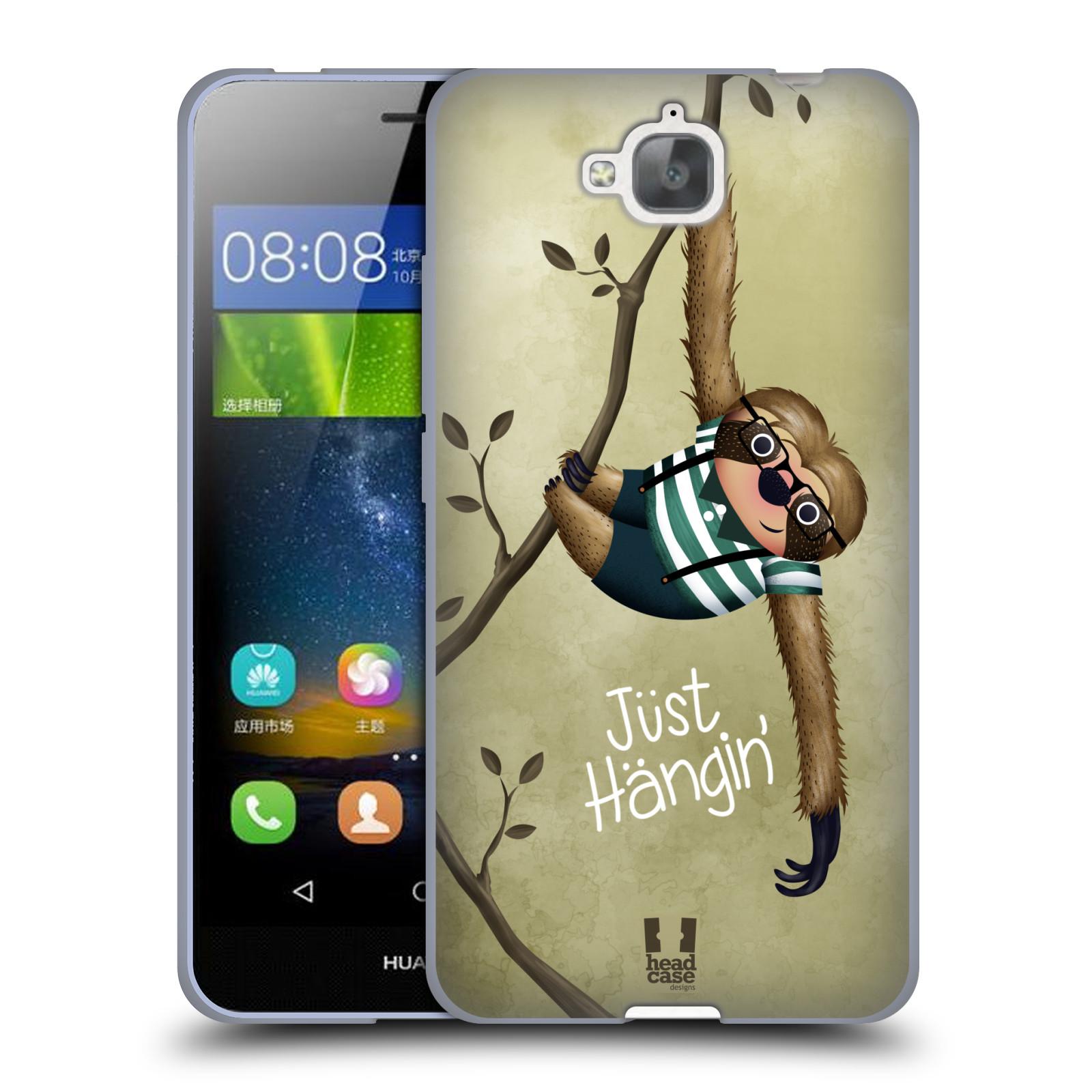 Silikonové pouzdro na mobil Huawei Y6 Pro Dual Sim HEAD CASE Lenochod Just Hangin
