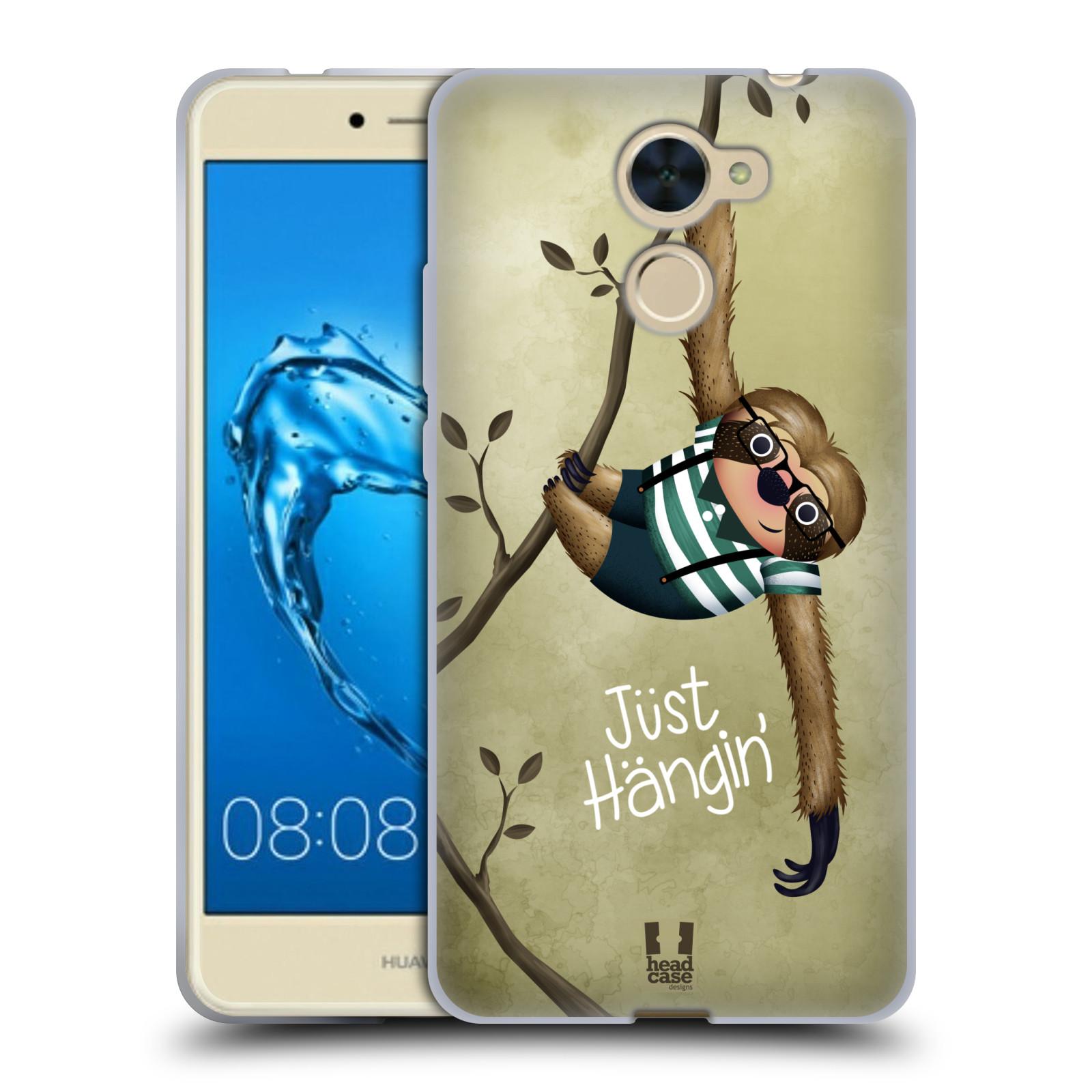 Silikonové pouzdro na mobil Huawei Y7 - Head Case - Lenochod Just Hangin