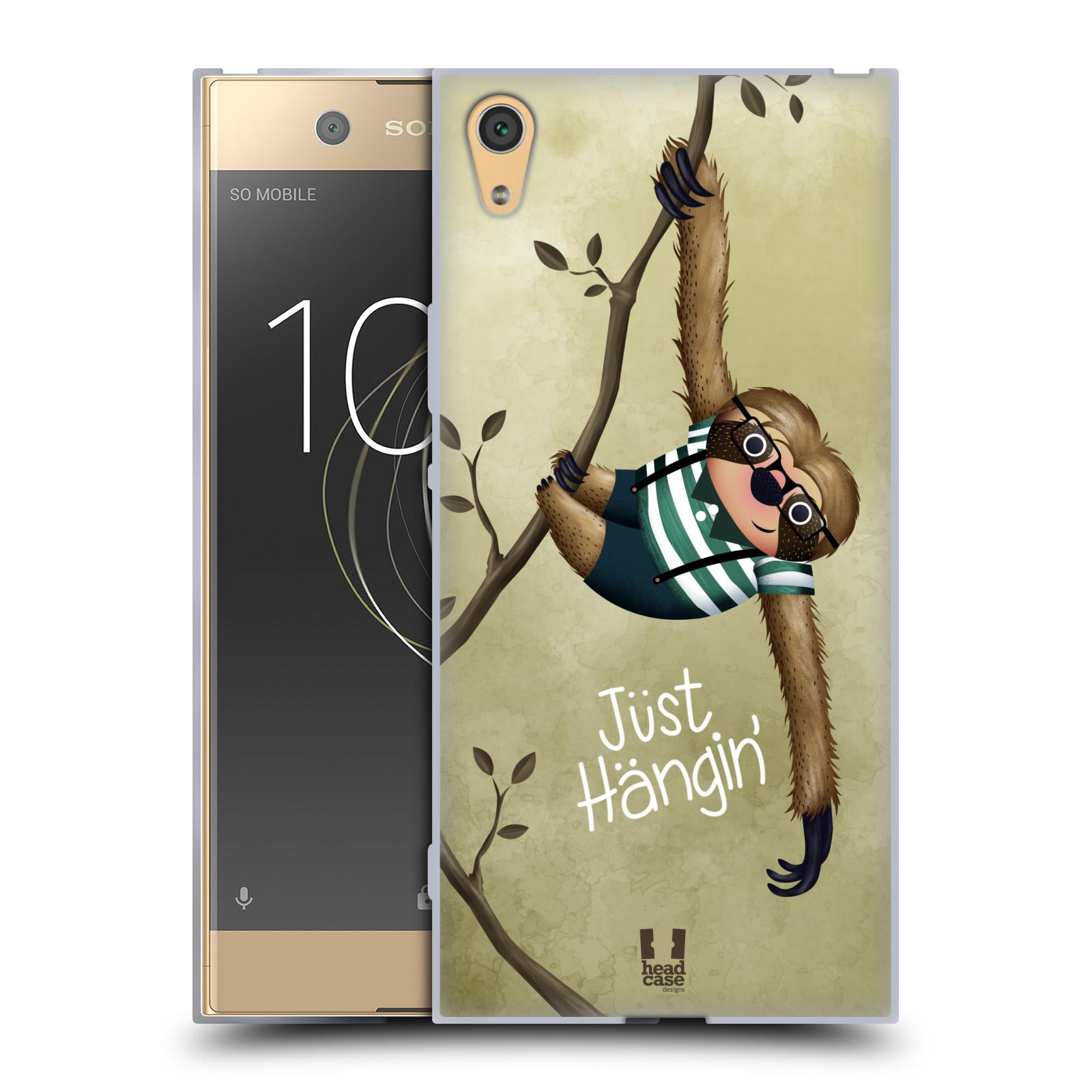 Silikonové pouzdro na mobil Sony Xperia XA1 Ultra - Head Case - Lenochod Just Hangin
