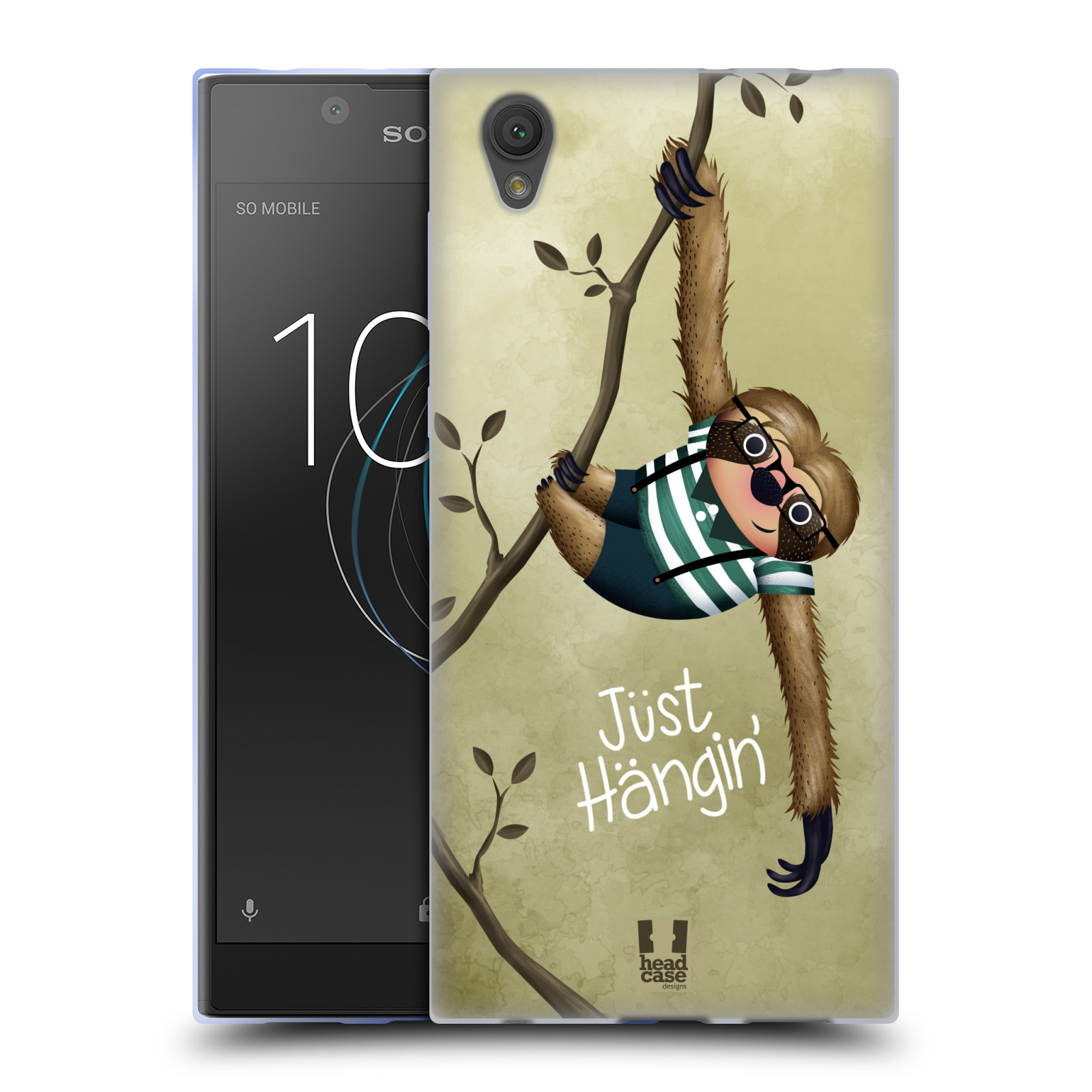 Silikonové pouzdro na mobil Sony Xperia L1 - Head Case - Lenochod Just Hangin