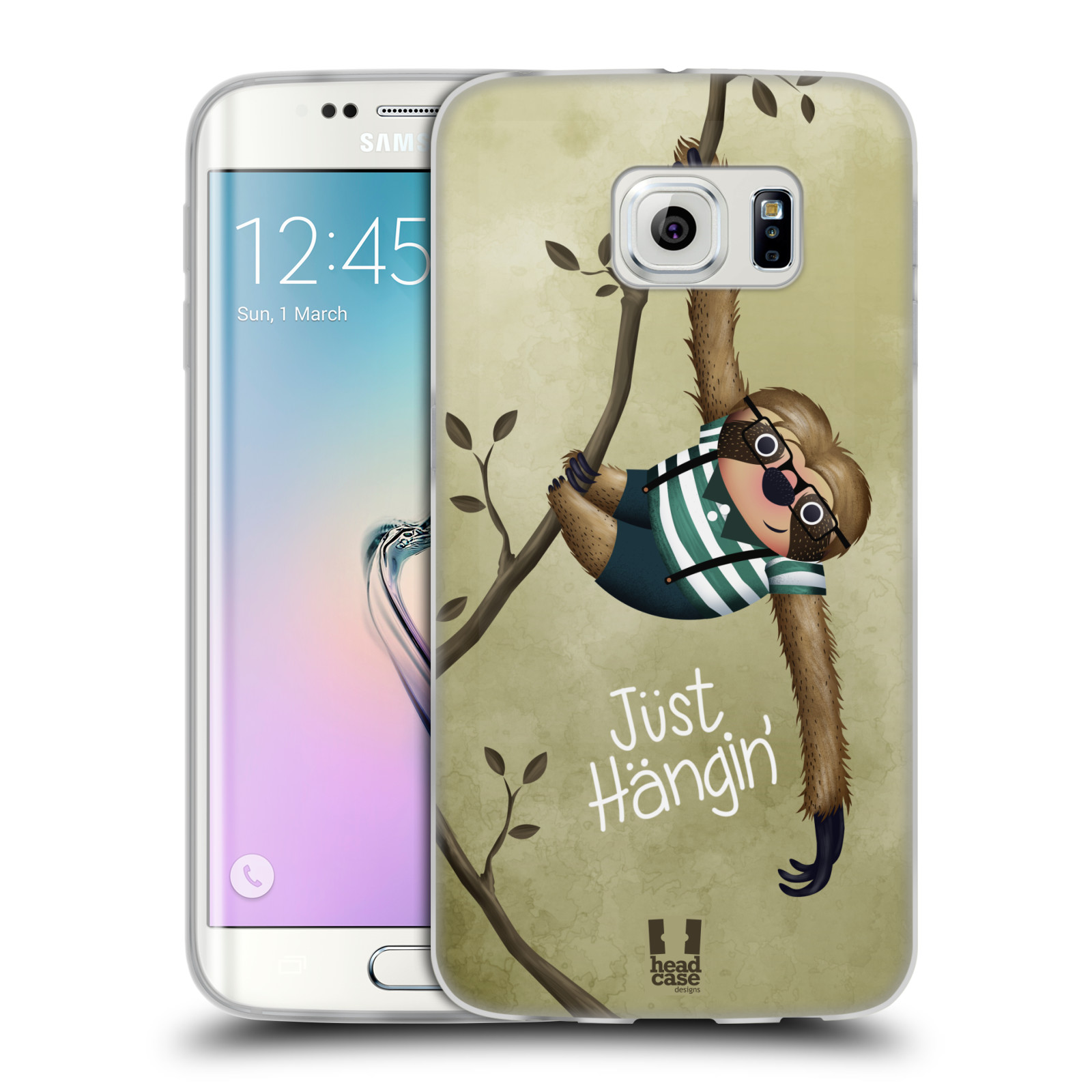 Silikonové pouzdro na mobil Samsung Galaxy S6 Edge HEAD CASE Lenochod Just Hangin (Silikonový kryt či obal na mobilní telefon Samsung Galaxy S6 Edge SM-G925F)