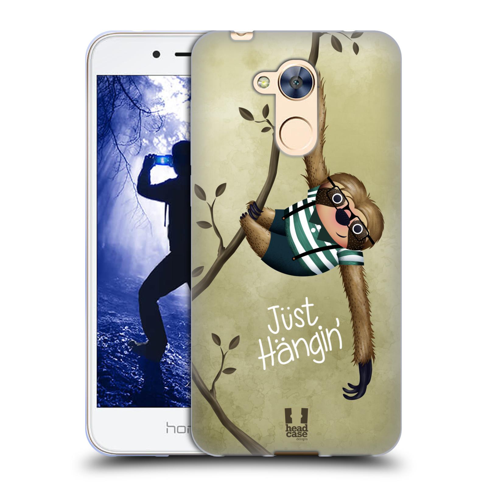 Silikonové pouzdro na mobil Honor 6A - Head Case - Lenochod Just Hangin
