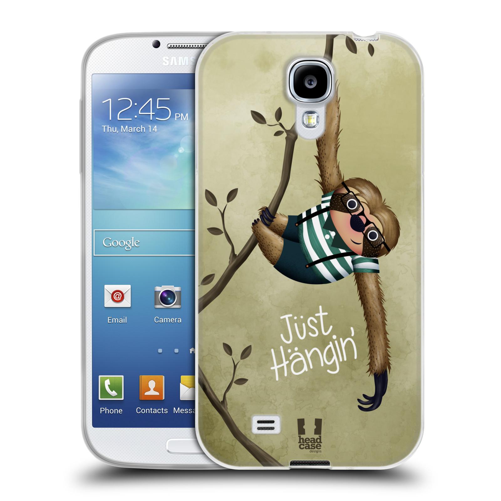 Silikonové pouzdro na mobil Samsung Galaxy S4 HEAD CASE Lenochod Just Hangin (Silikonový kryt či obal na mobilní telefon Samsung Galaxy S4 GT-i9505 / i9500)