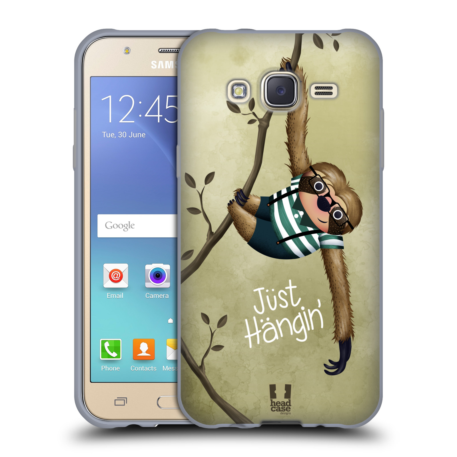 Silikonové pouzdro na mobil Samsung Galaxy J5 HEAD CASE Lenochod Just Hangin