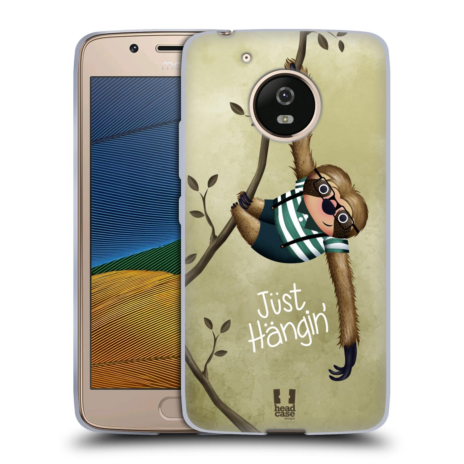 Silikonové pouzdro na mobil Lenovo Moto G5 - Head Case Lenochod Just Hangin