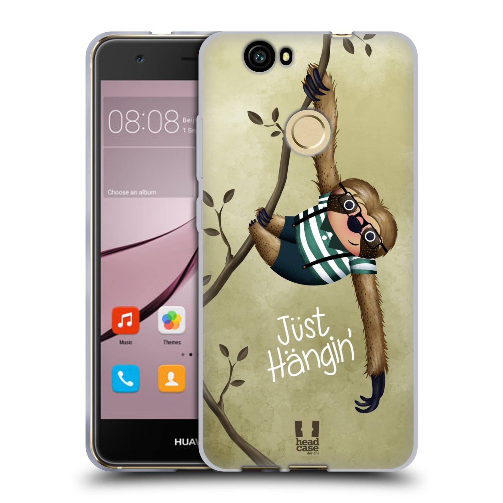 Silikonové pouzdro na mobil Huawei Nova - Head Case - Lenochod Just Hangin