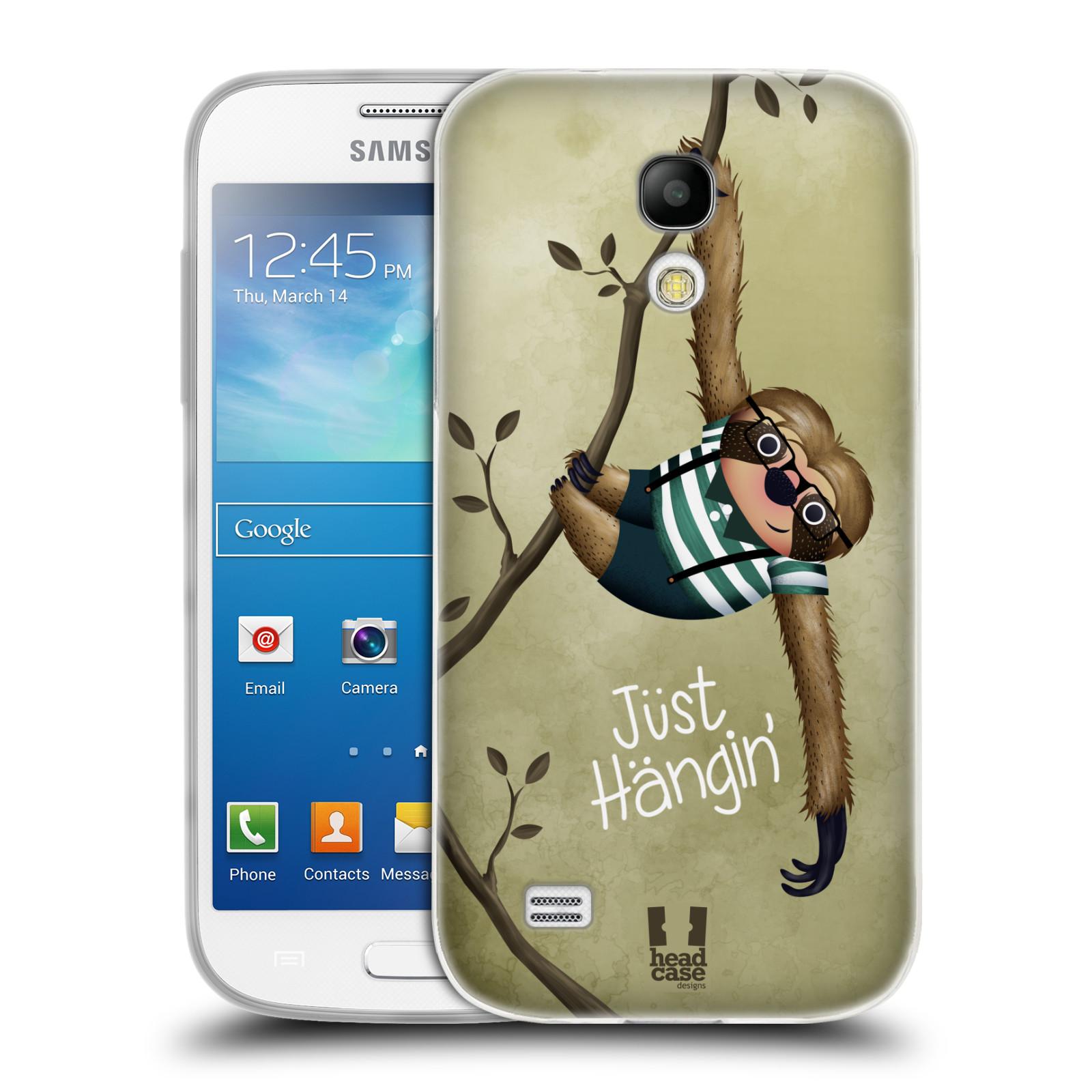 Silikonové pouzdro na mobil Samsung Galaxy S4 Mini HEAD CASE Lenochod Just Hangin