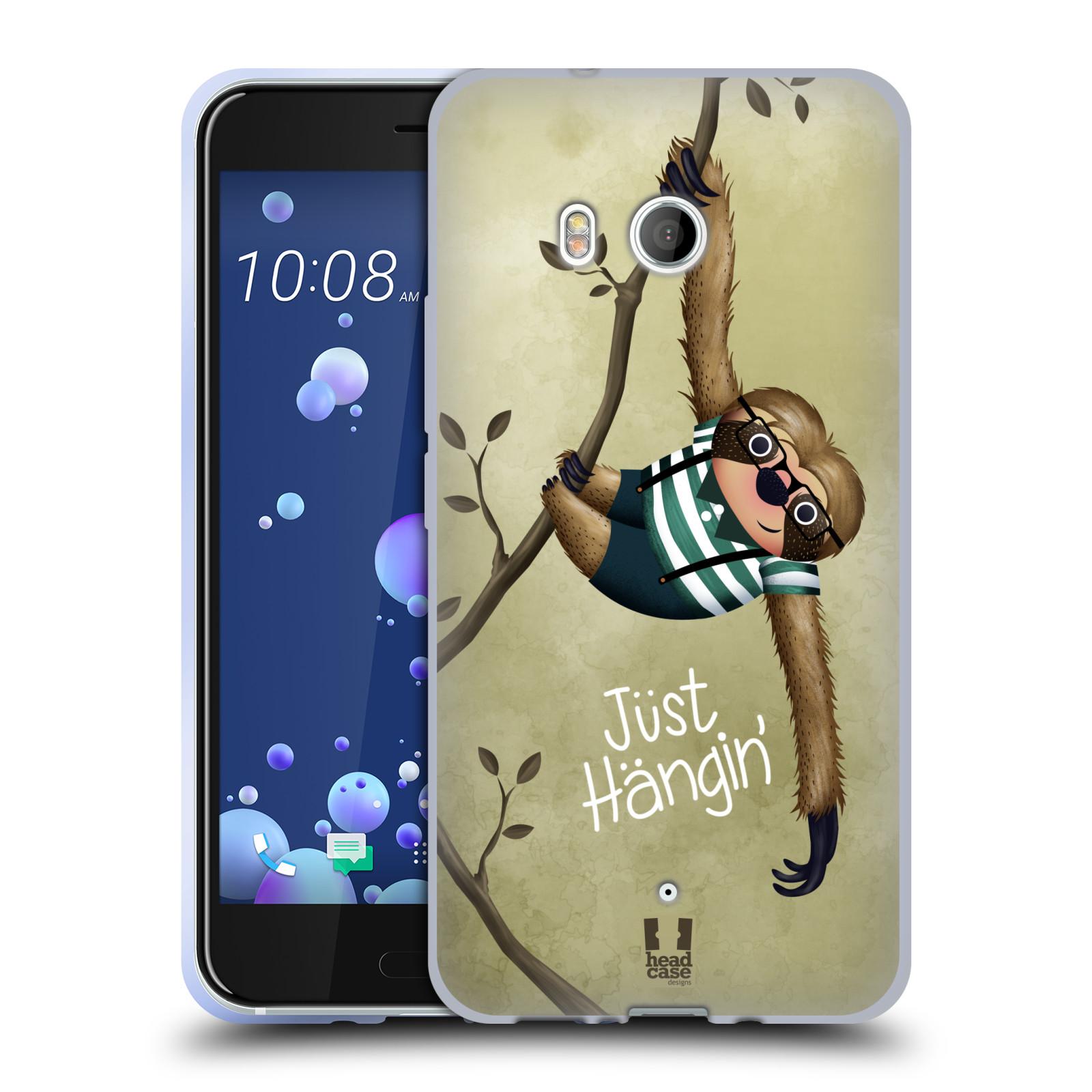 Silikonové pouzdro na mobil HTC U11 - Head Case - Lenochod Just Hangin