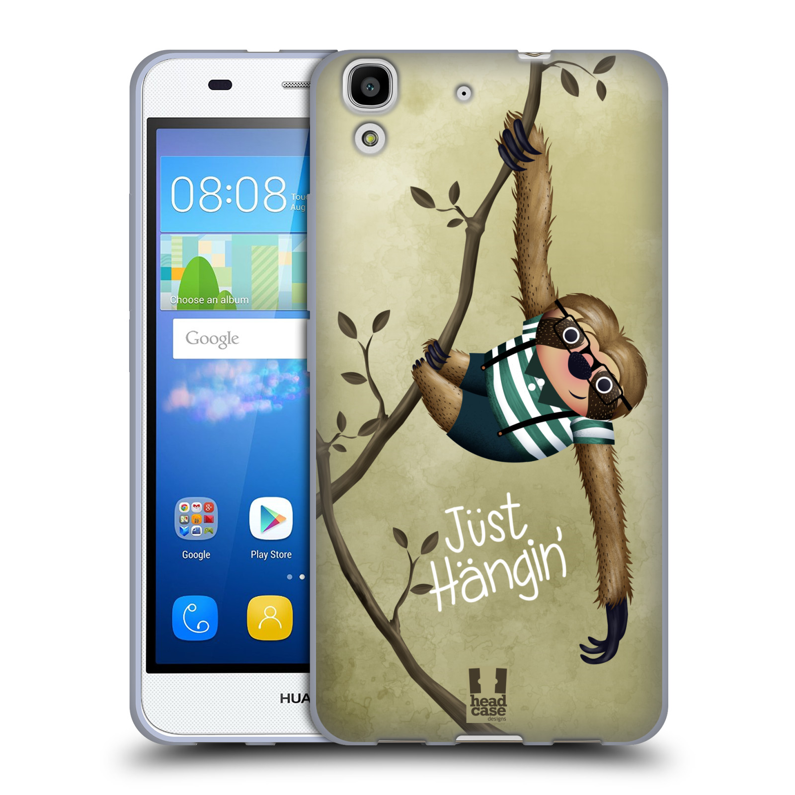 Silikonové pouzdro na mobil Huawei Y6 HEAD CASE Lenochod Just Hangin