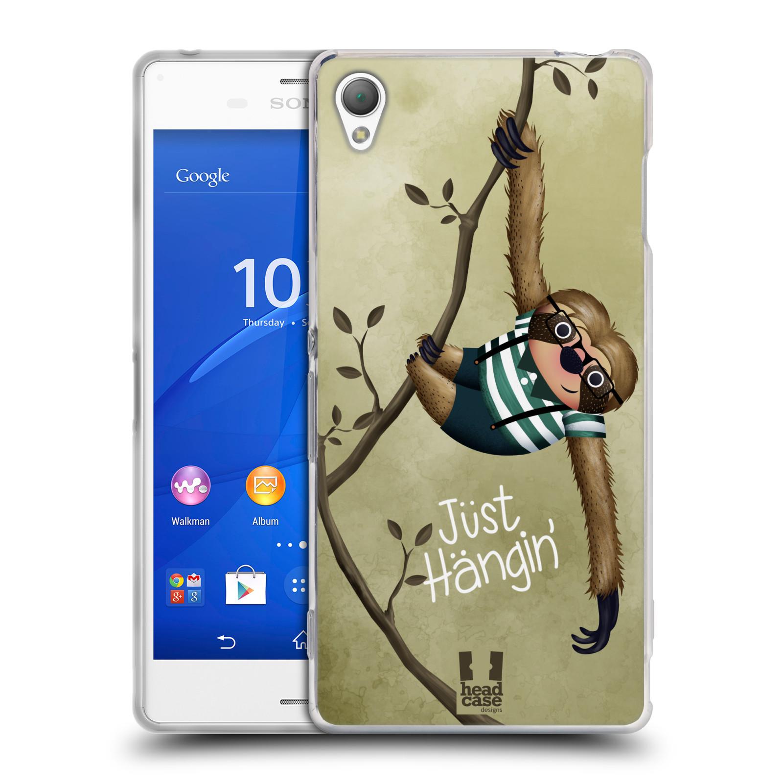 Silikonové pouzdro na mobil Sony Xperia Z3 D6603 HEAD CASE Lenochod Just Hangin