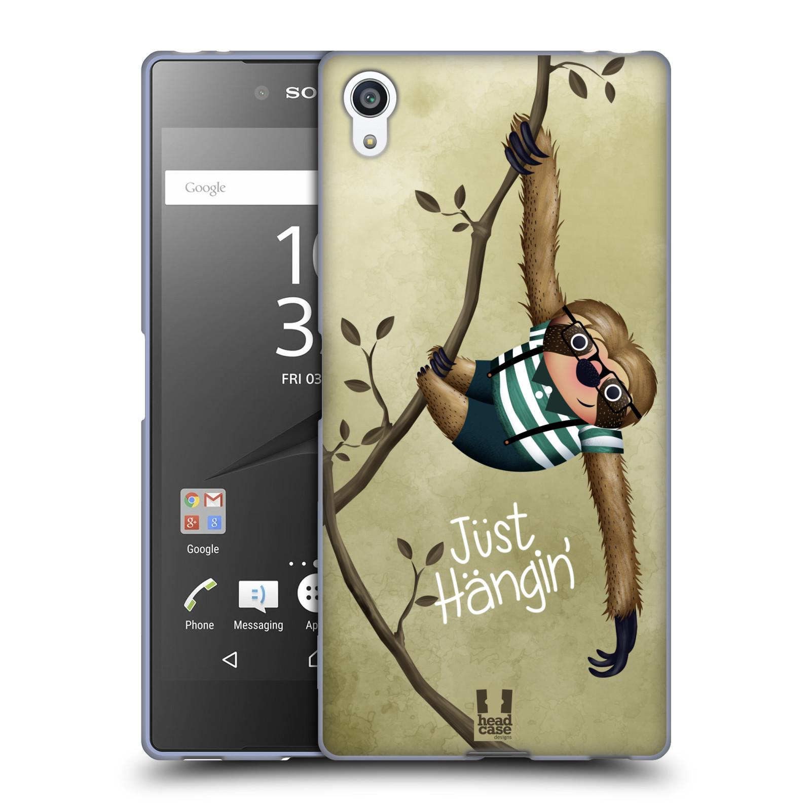 Silikonové pouzdro na mobil Sony Xperia Z5 Premium HEAD CASE Lenochod Just Hangin