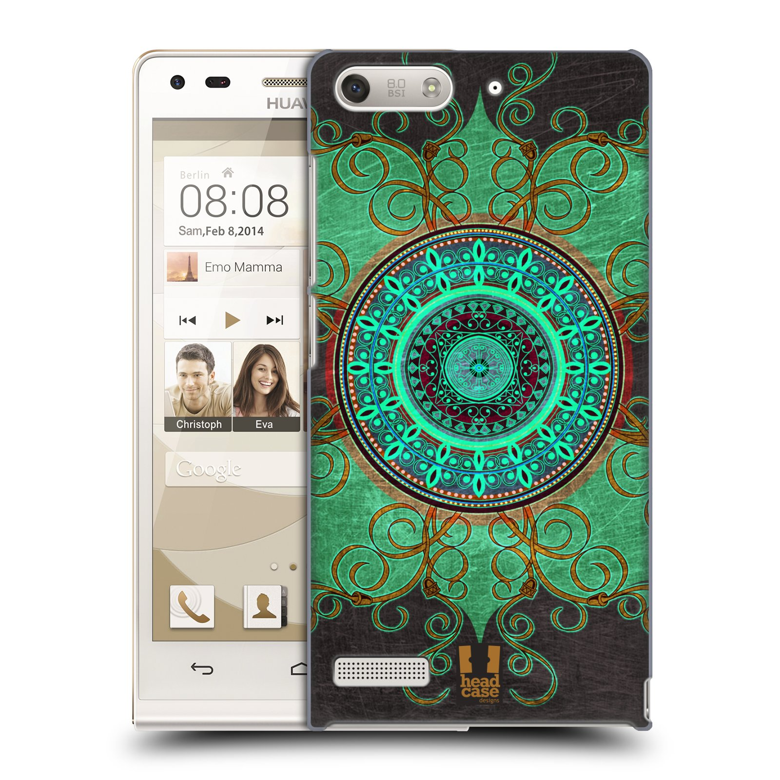 Plastové pouzdro na mobil Huawei Ascend G6 HEAD CASE ARAB MANDALA (Kryt či obal na mobilní telefon Huawei Ascend G6 bez LTE)