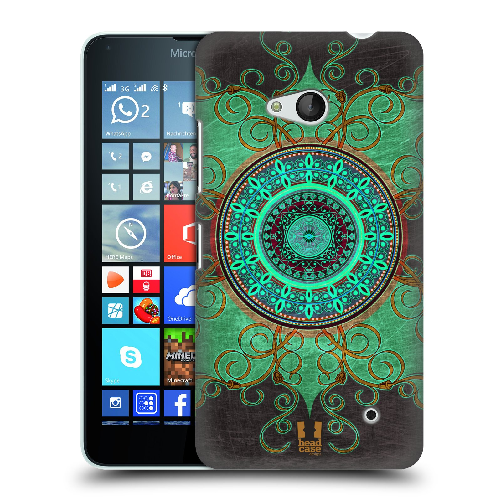 Plastové pouzdro na mobil Microsoft Lumia 640 HEAD CASE ARAB MANDALA