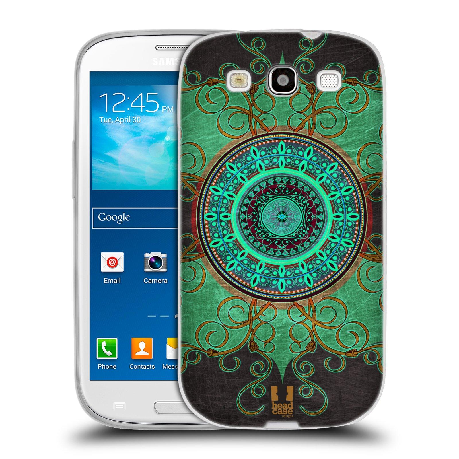 Silikonové pouzdro na mobil Samsung Galaxy S III HEAD CASE ARAB MANDALA
