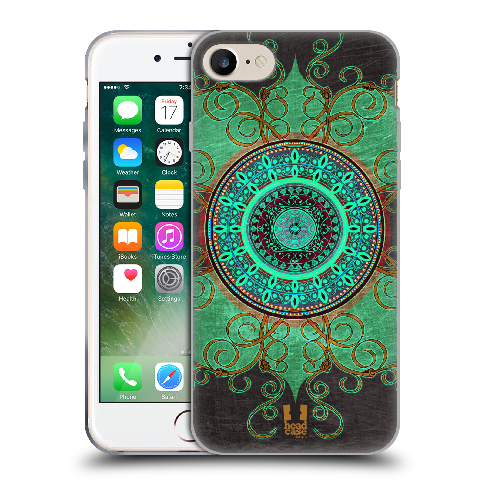 Silikonové pouzdro na mobil Apple iPhone 8 - Head Case - ARAB MANDALA