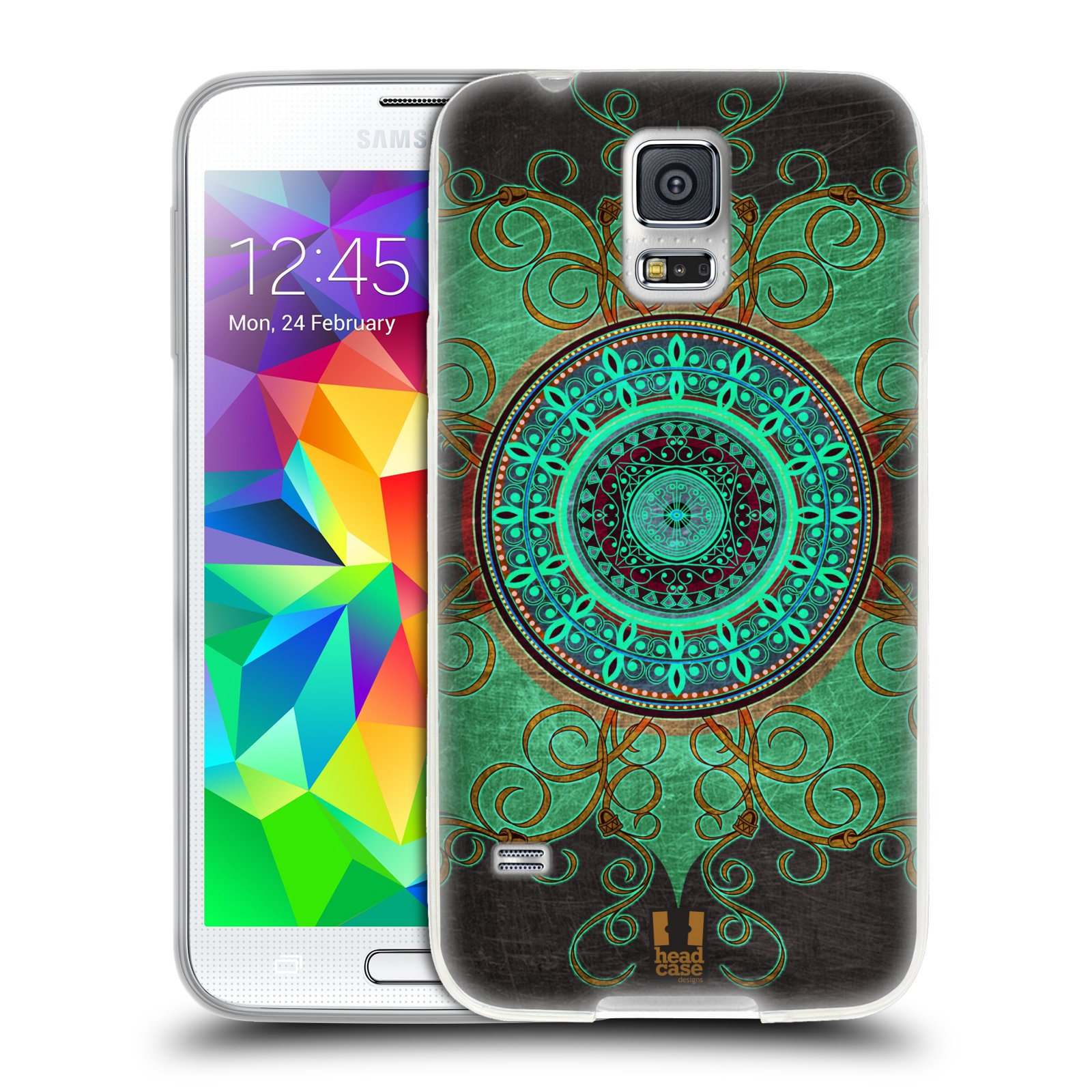 Silikonové pouzdro na mobil Samsung Galaxy S5 Neo HEAD CASE ARAB MANDALA