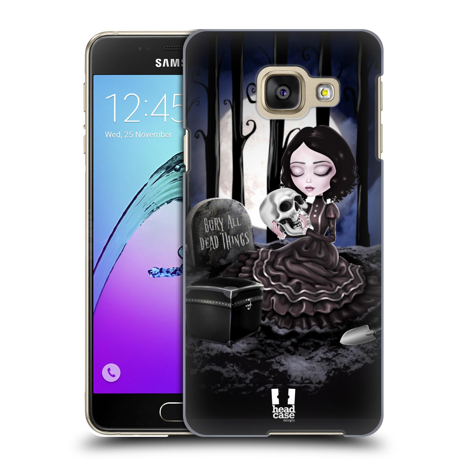 Plastové pouzdro na mobil Samsung Galaxy A3 (2016) HEAD CASE MACABRE HŘBITOV