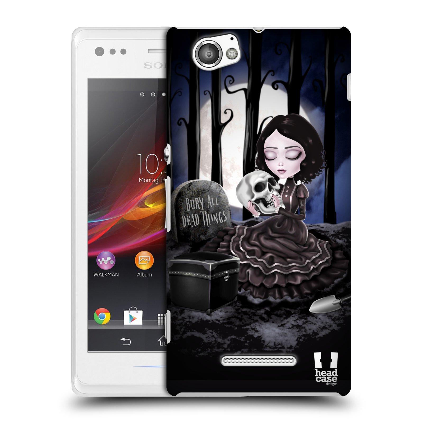 Plastové pouzdro na mobil Sony Xperia M C1905 HEAD CASE MACABRE HŘBITOV