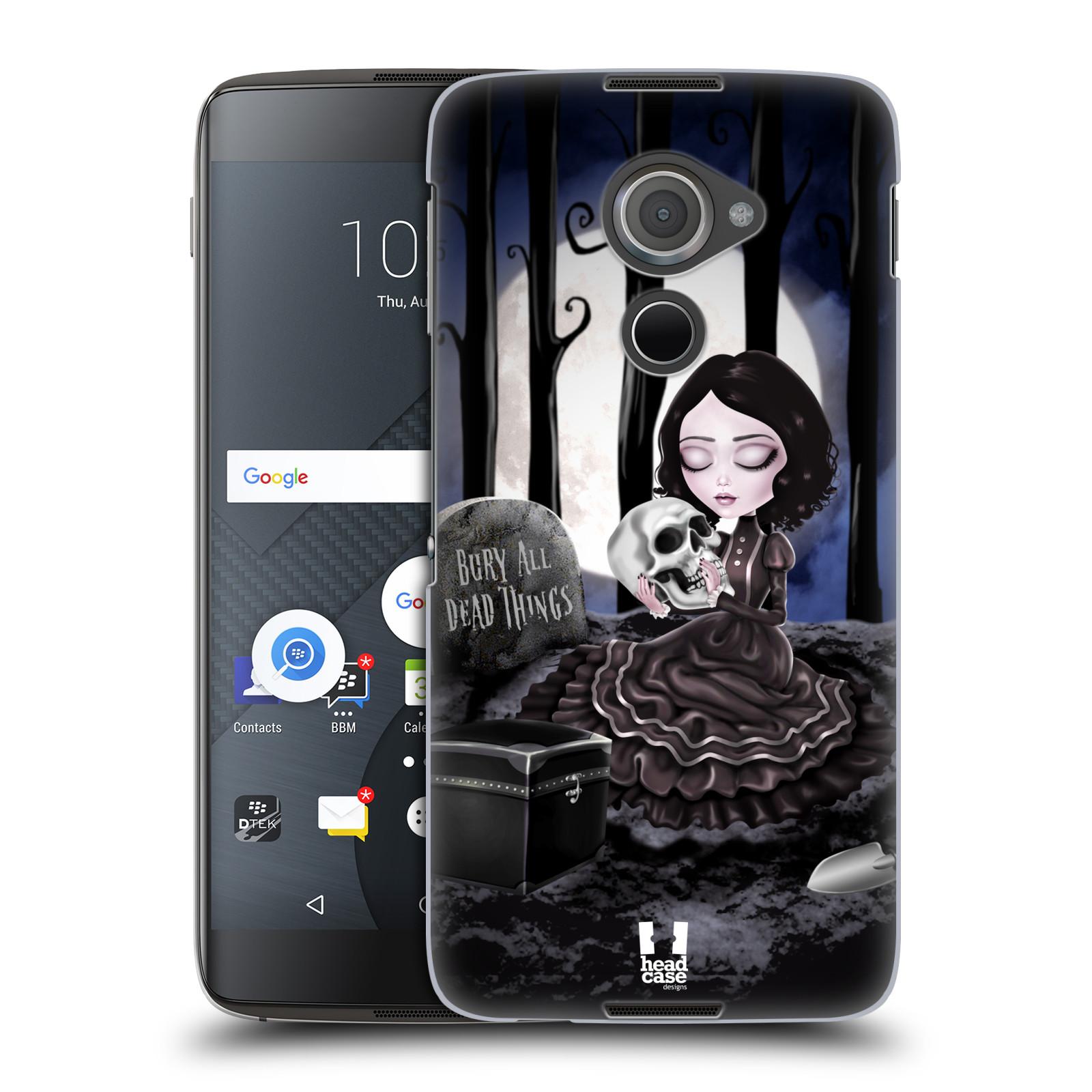 Plastové pouzdro na mobil Blackberry DTEK60 (Argon) - Head Case MACABRE HŘBITOV