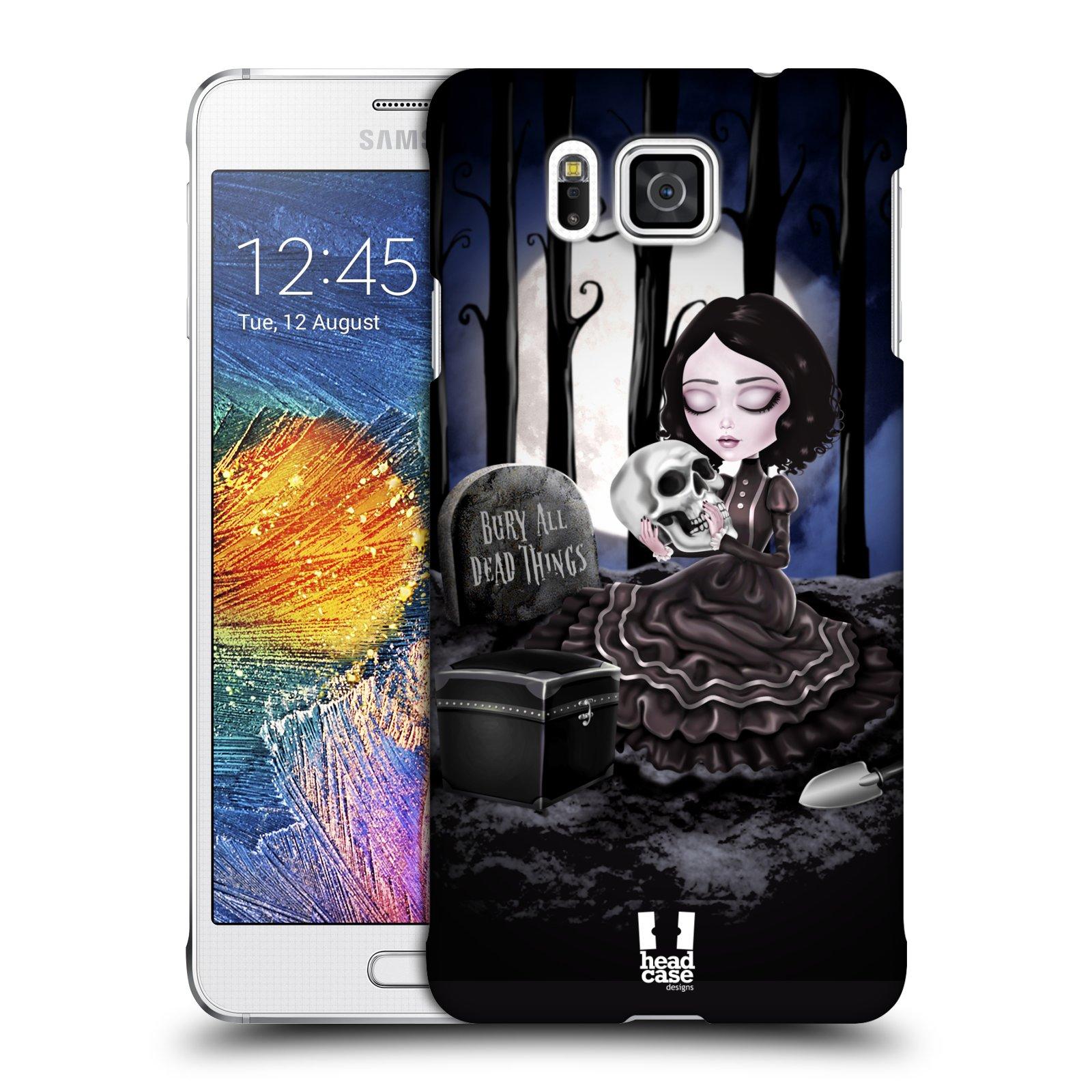 Plastové pouzdro na mobil Samsung Galaxy Alpha HEAD CASE MACABRE HŘBITOV