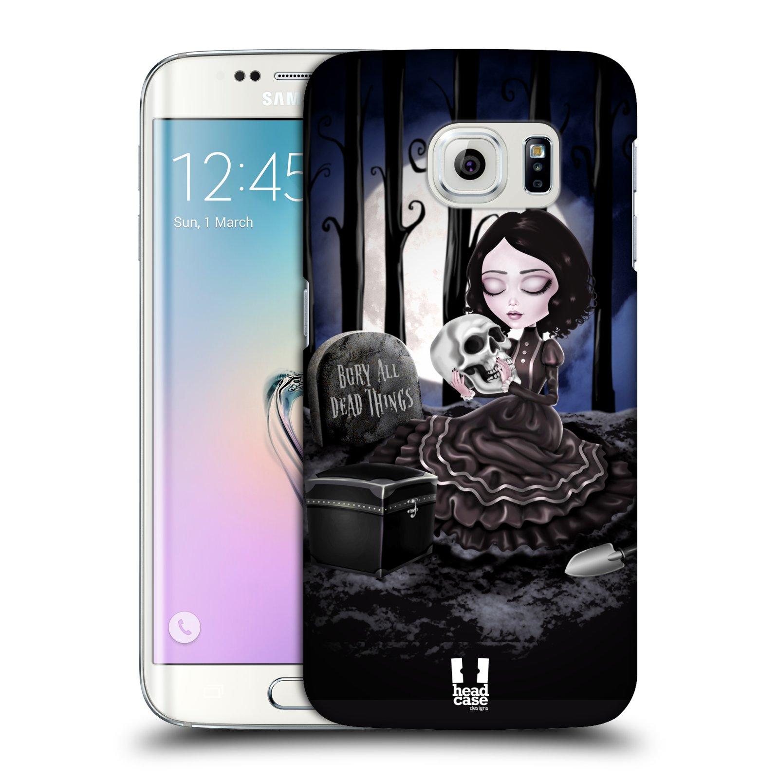 Plastové pouzdro na mobil Samsung Galaxy S6 Edge HEAD CASE MACABRE HŘBITOV