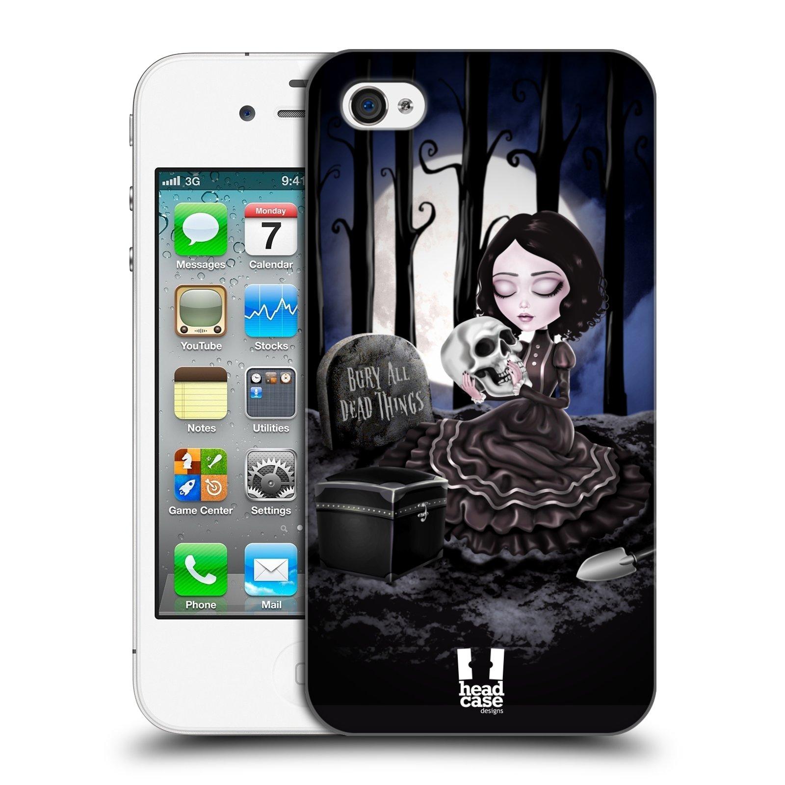 Plastové pouzdro na mobil Apple iPhone 4 a 4S HEAD CASE MACABRE HŘBITOV