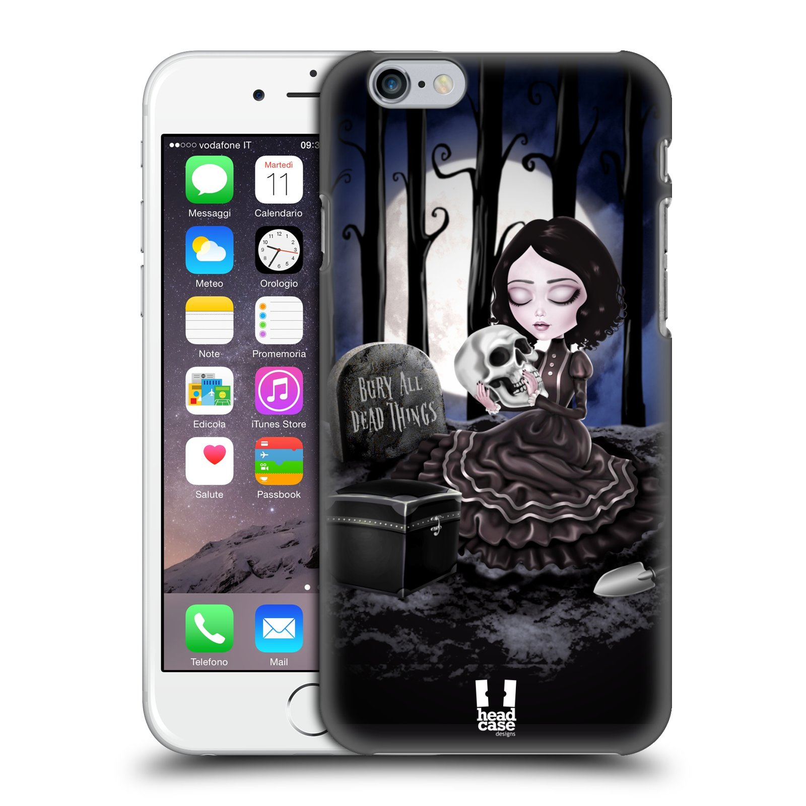 Plastové pouzdro na mobil Apple iPhone 6 a 6S HEAD CASE MACABRE HŘBITOV
