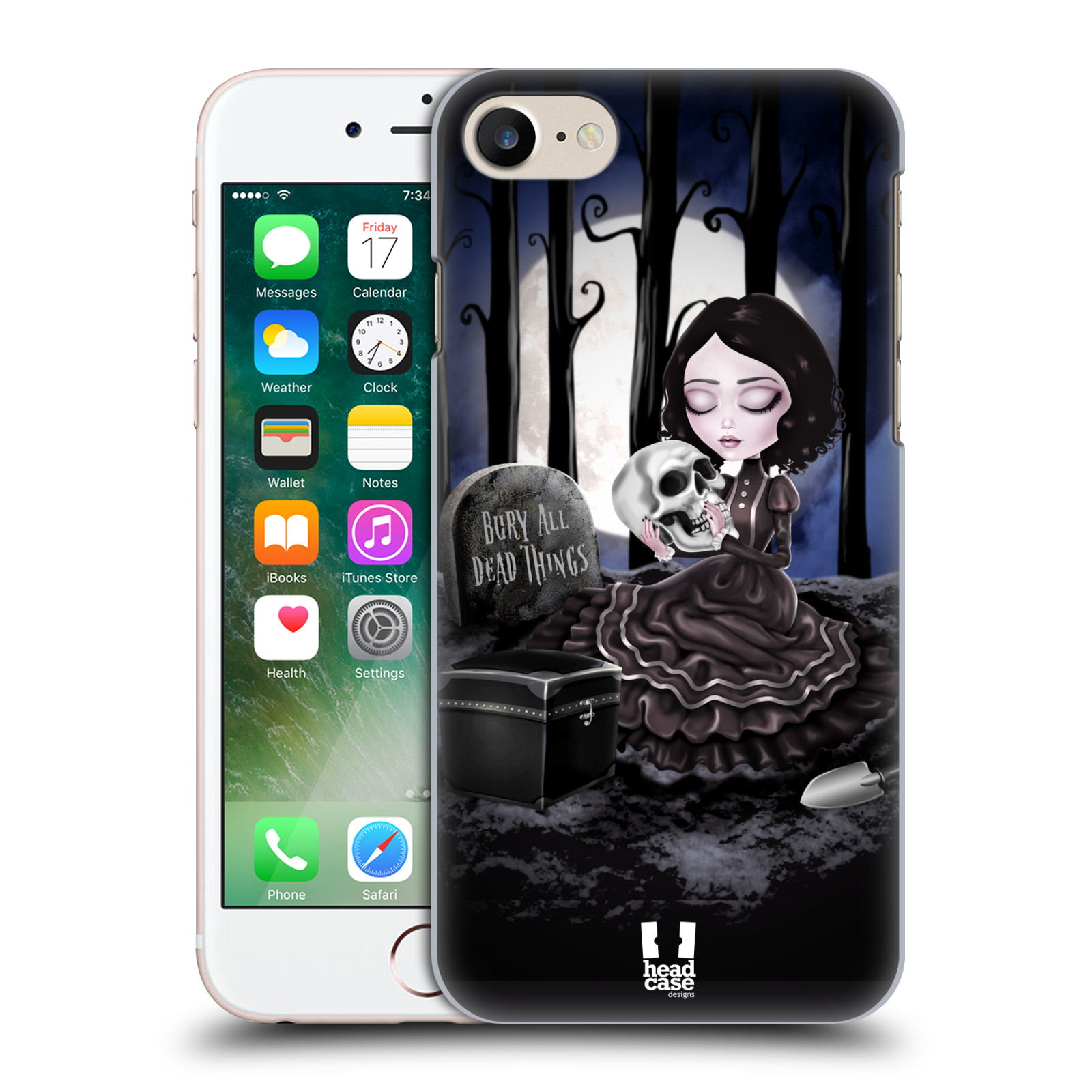 Plastové pouzdro na mobil Apple iPhone 7 HEAD CASE MACABRE HŘBITOV