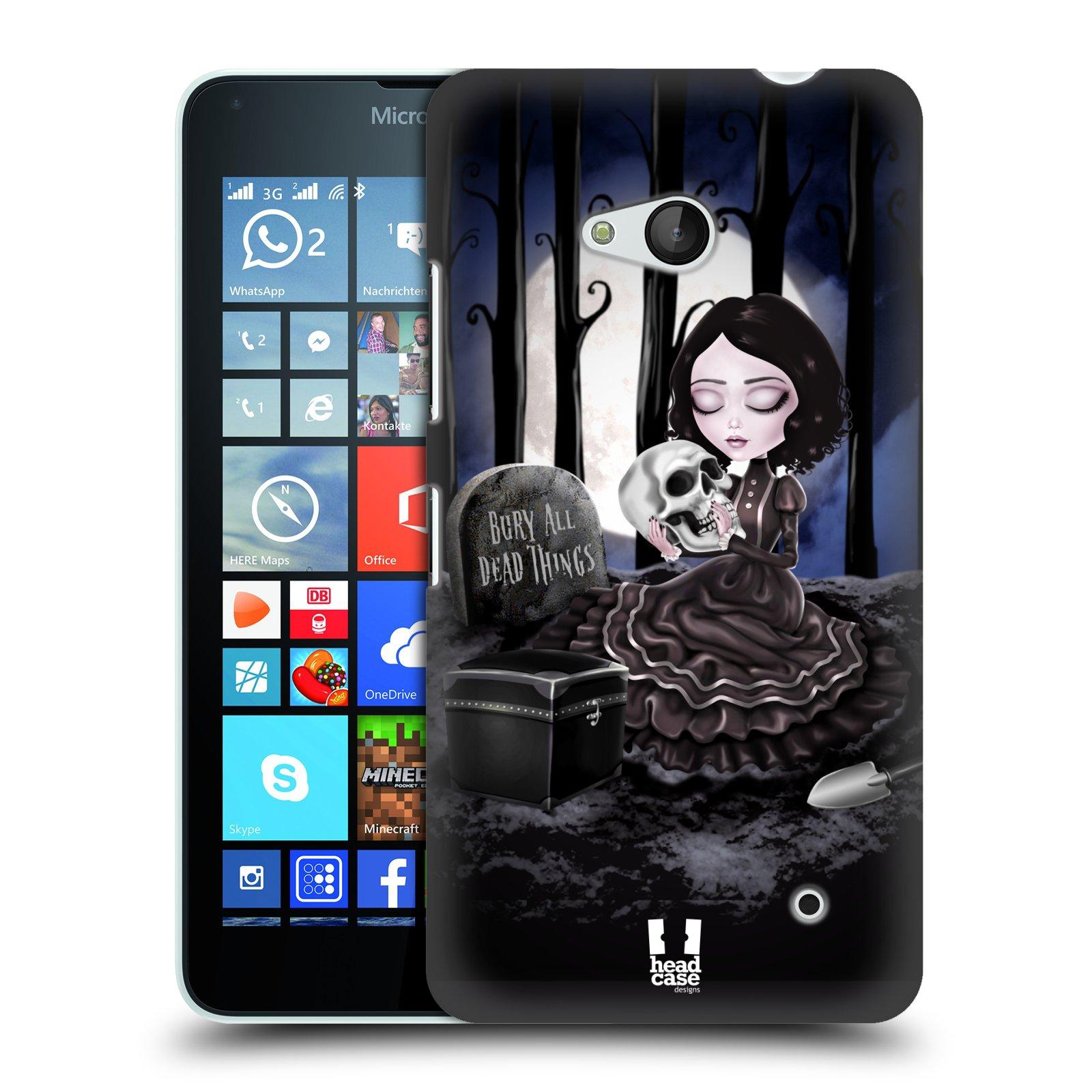 Plastové pouzdro na mobil Microsoft Lumia 640 HEAD CASE MACABRE HŘBITOV